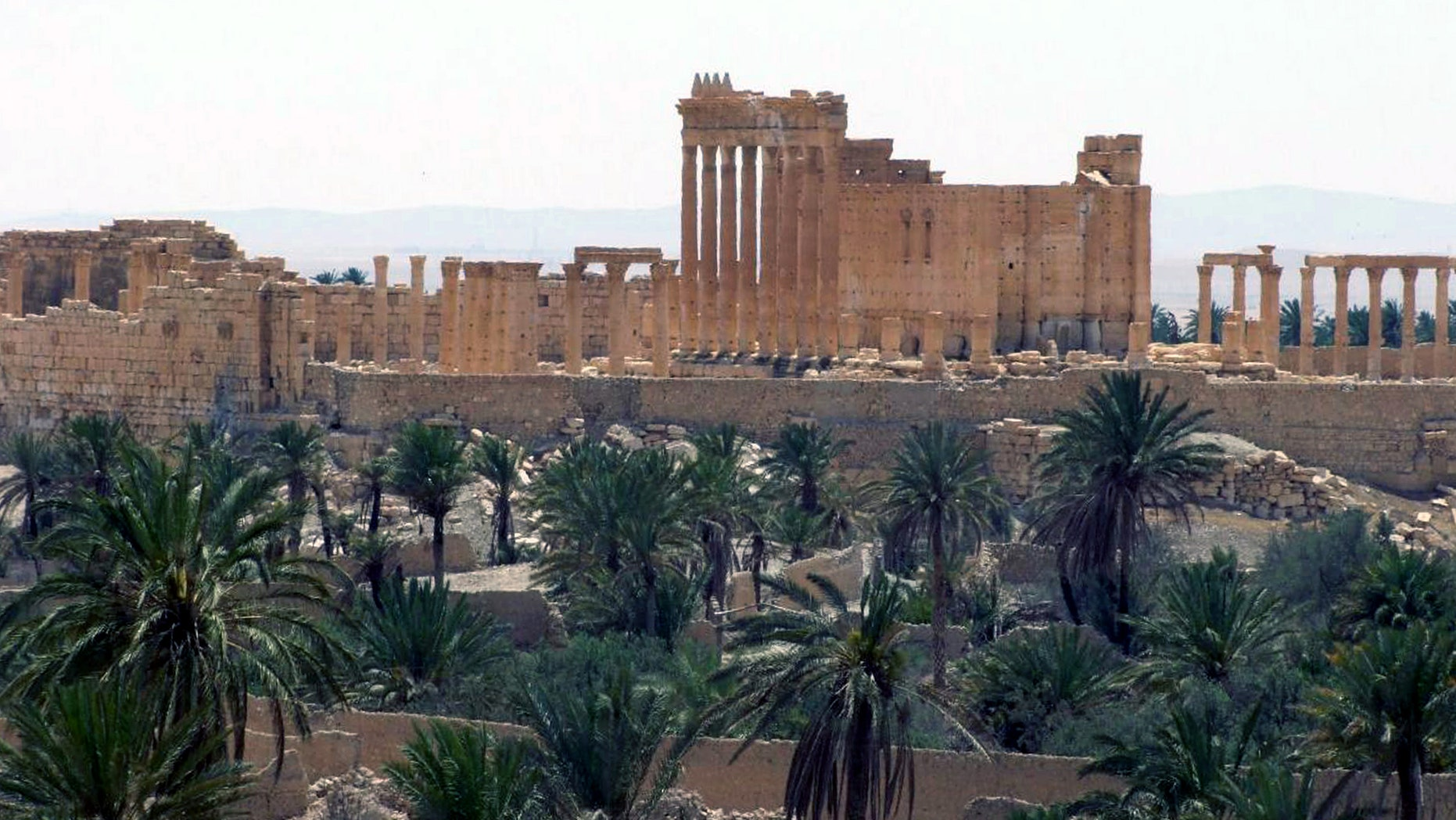 FILE photo released on Sunday, May 17, 2015, by the Syrian official news agency SANA, shows the general view of the ancient Roman city of Palmyra, northeast of Damascus, Syria.