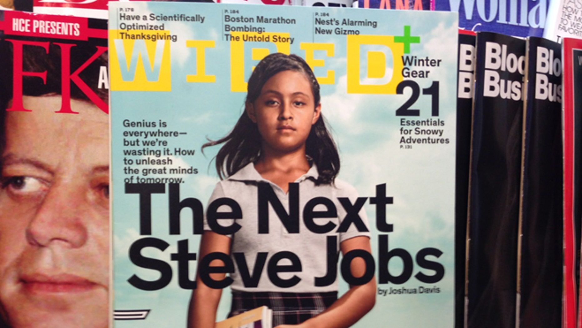 A photo of the cover of Wired Magazine on a newsstand in New York City.