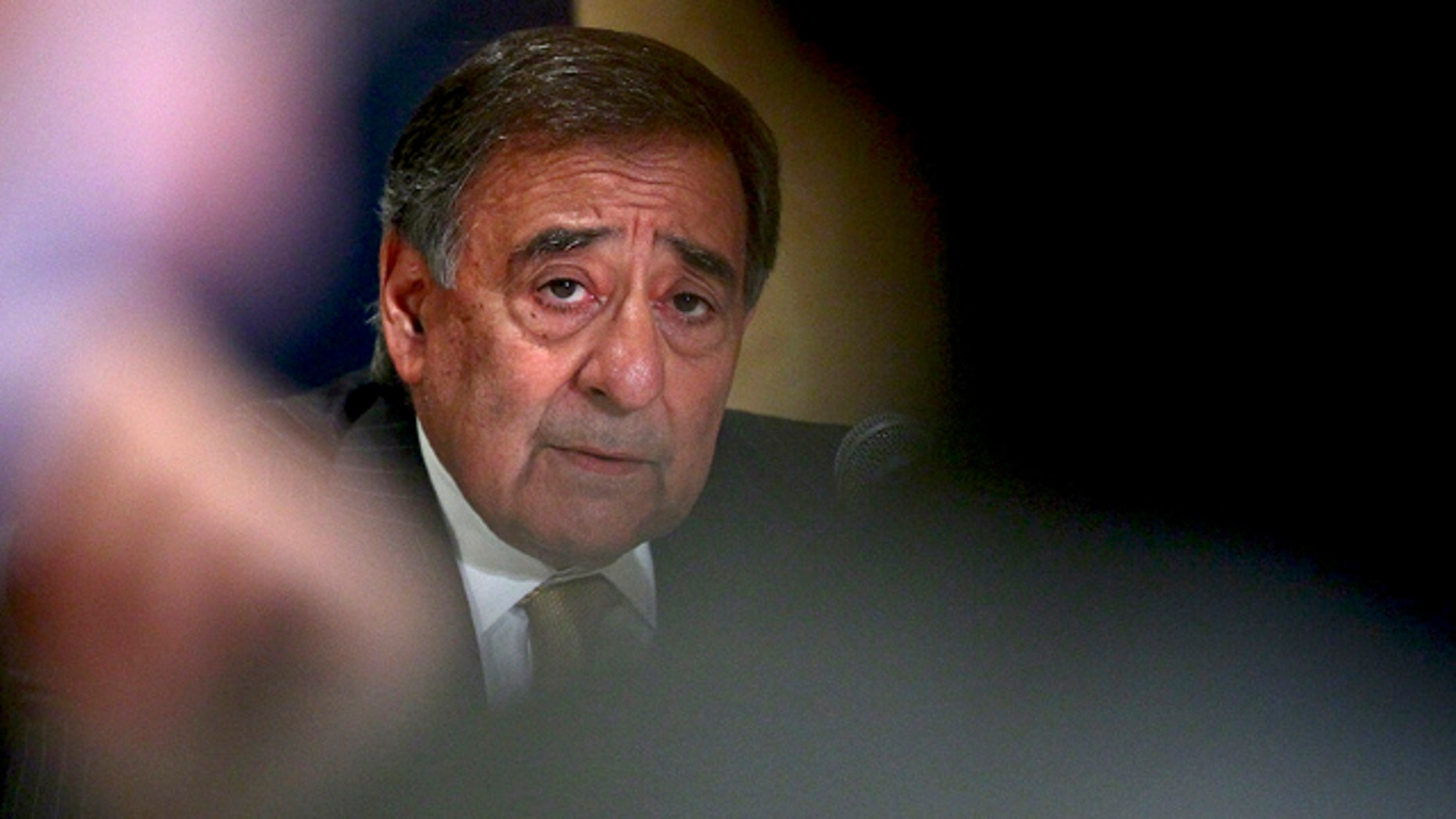 Oct. 4: Defense Secretary Leon Panetta answers questions during a news conference in Cairo.