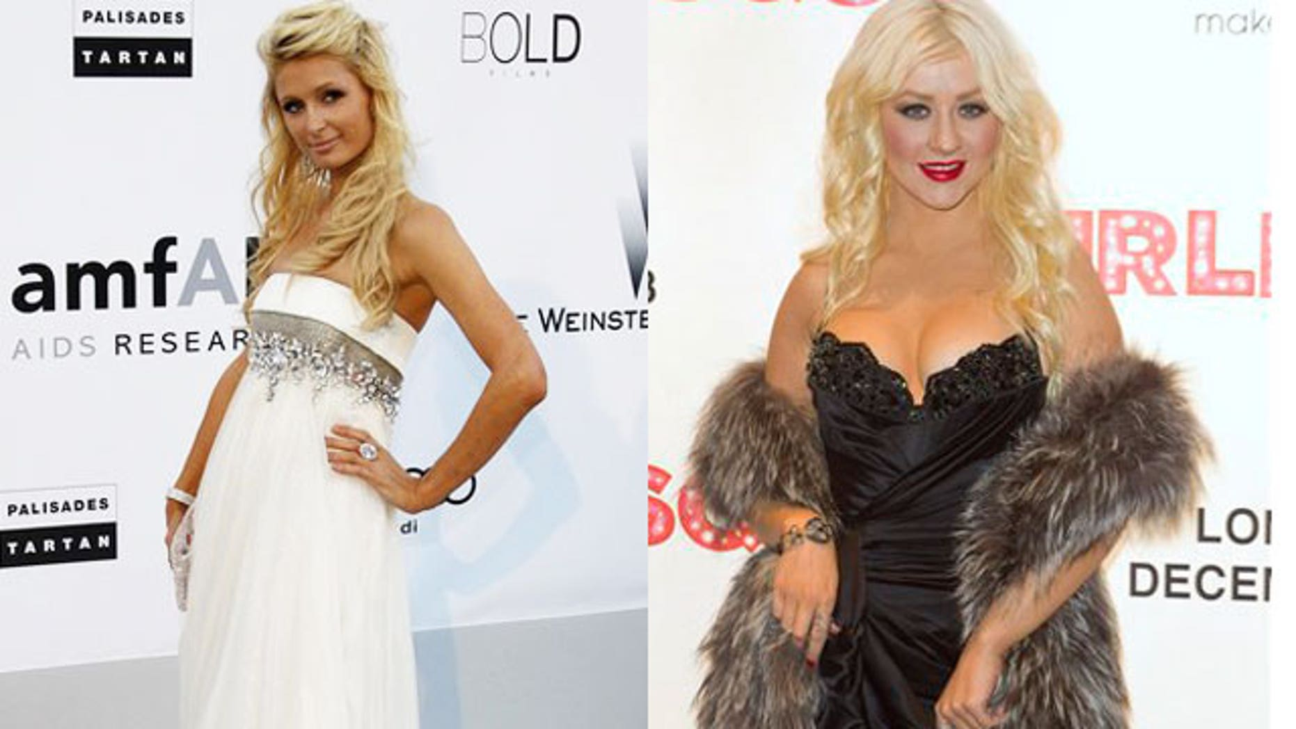 Paris Hilton (L) and Christina Aguilera are both subjects in Strauss' new book.