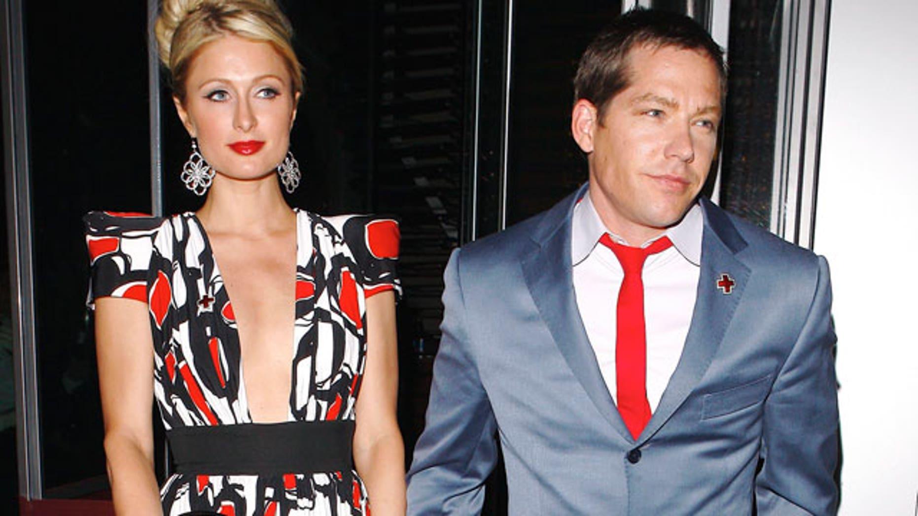 April 10: Paris Hilton and her boyfriend Cy Waits (X17)