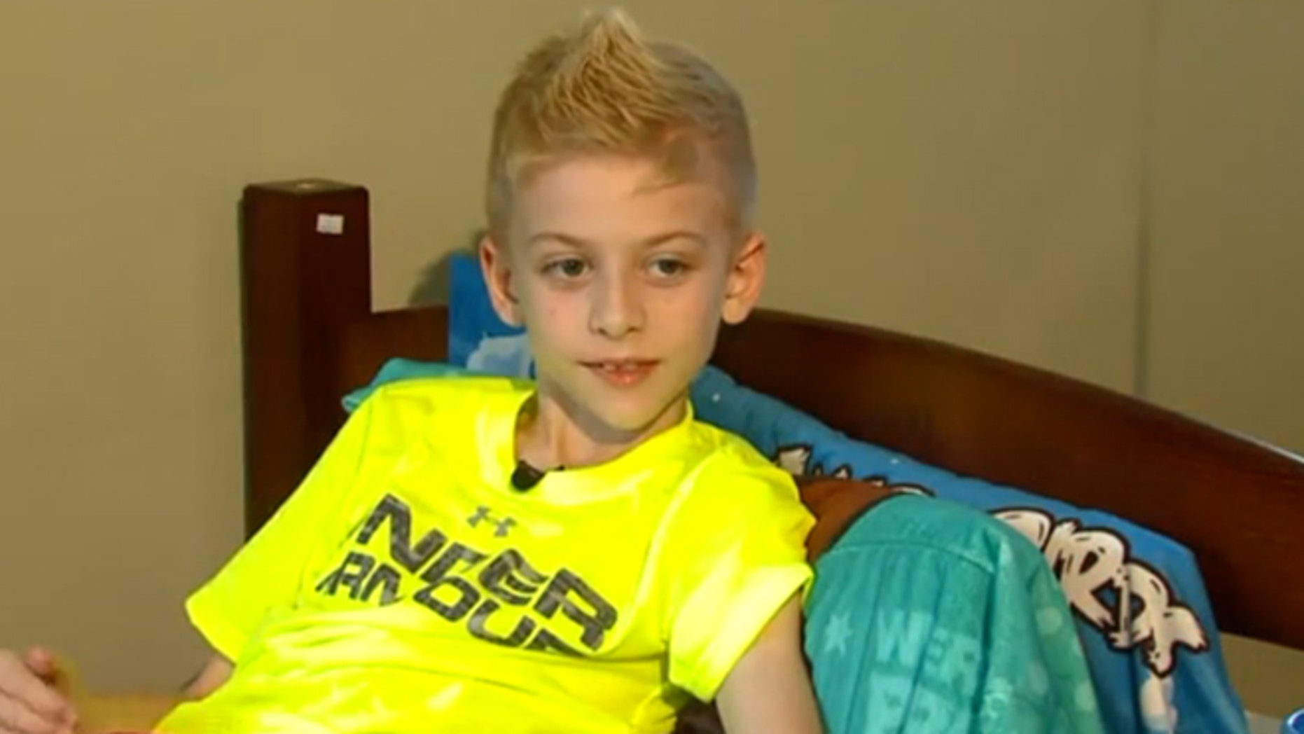 This undated photo shows Parker Adams, who is battling brain cancer.