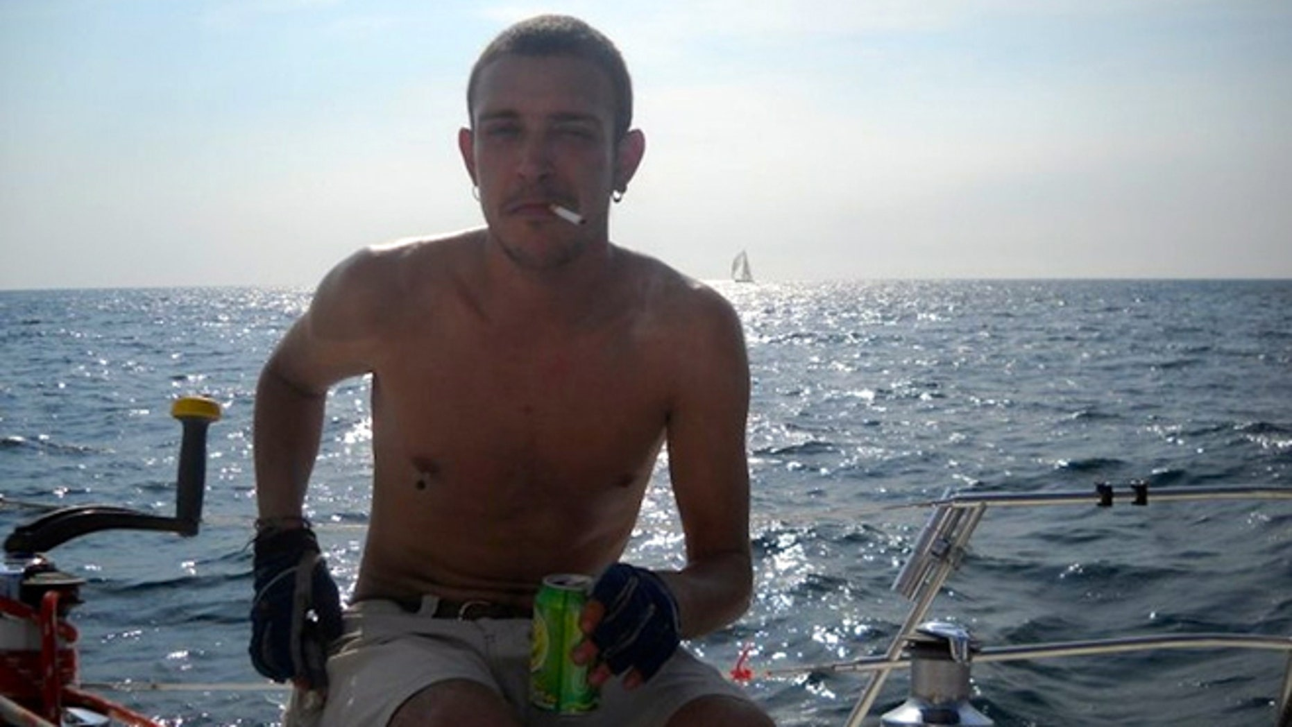 Patrick Kowalski in a boat in Acapulco, Mexico, before he was deported back to the United States. (Photo: Courtesy of Patrick Kowalski)