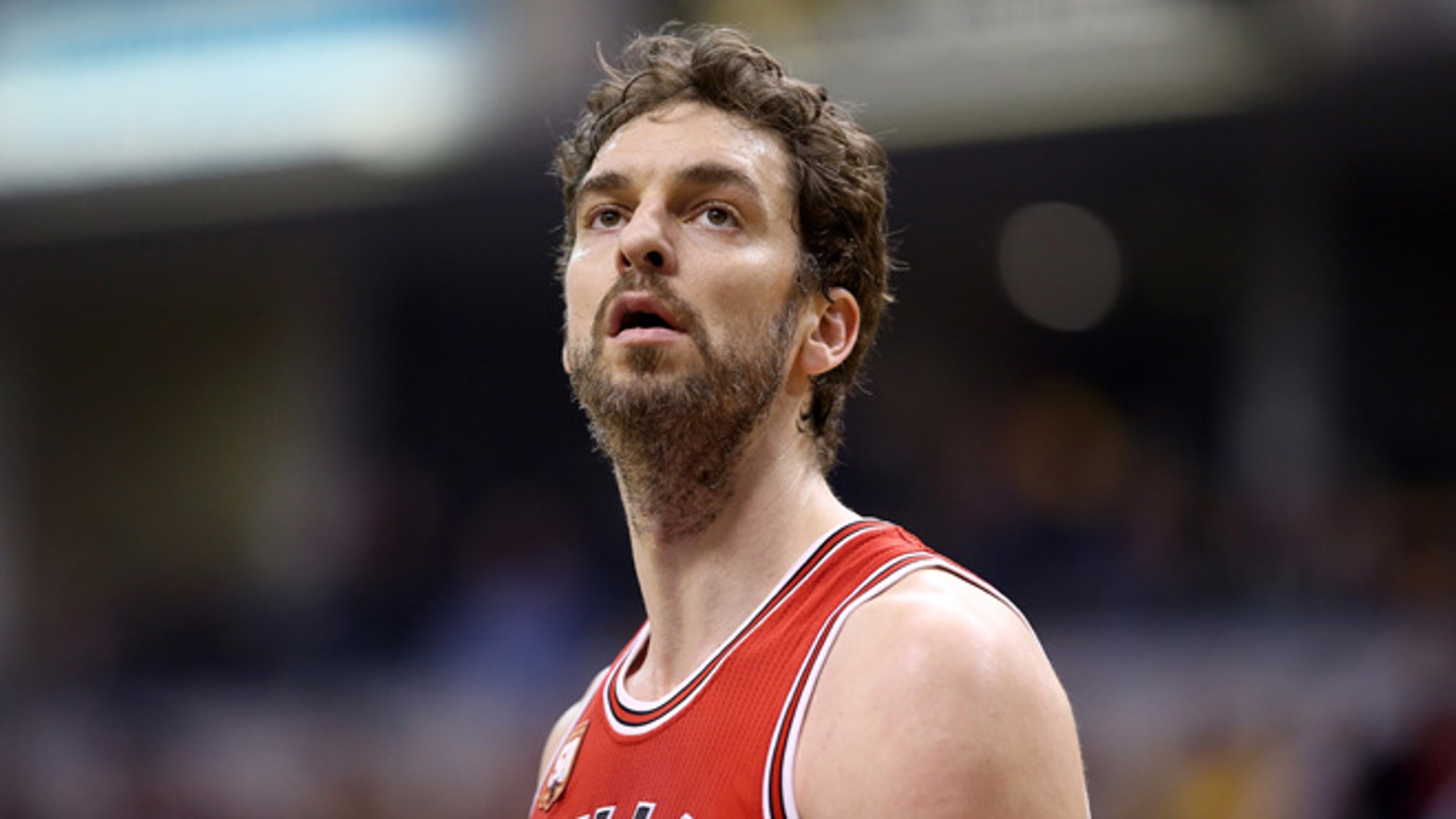 Pau Gasol on March 29, 2016 in Indianapolis, Indiana.