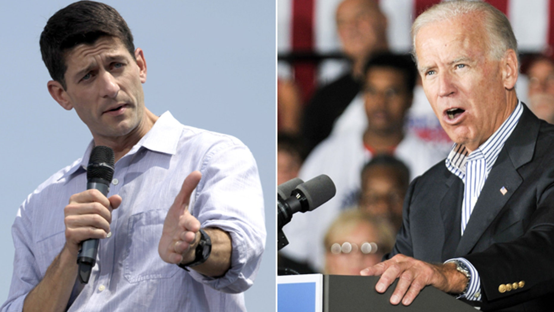 Aug. 31, 2012: Paul Ryan and Joe Biden campaign on the heels of the GOP convention.