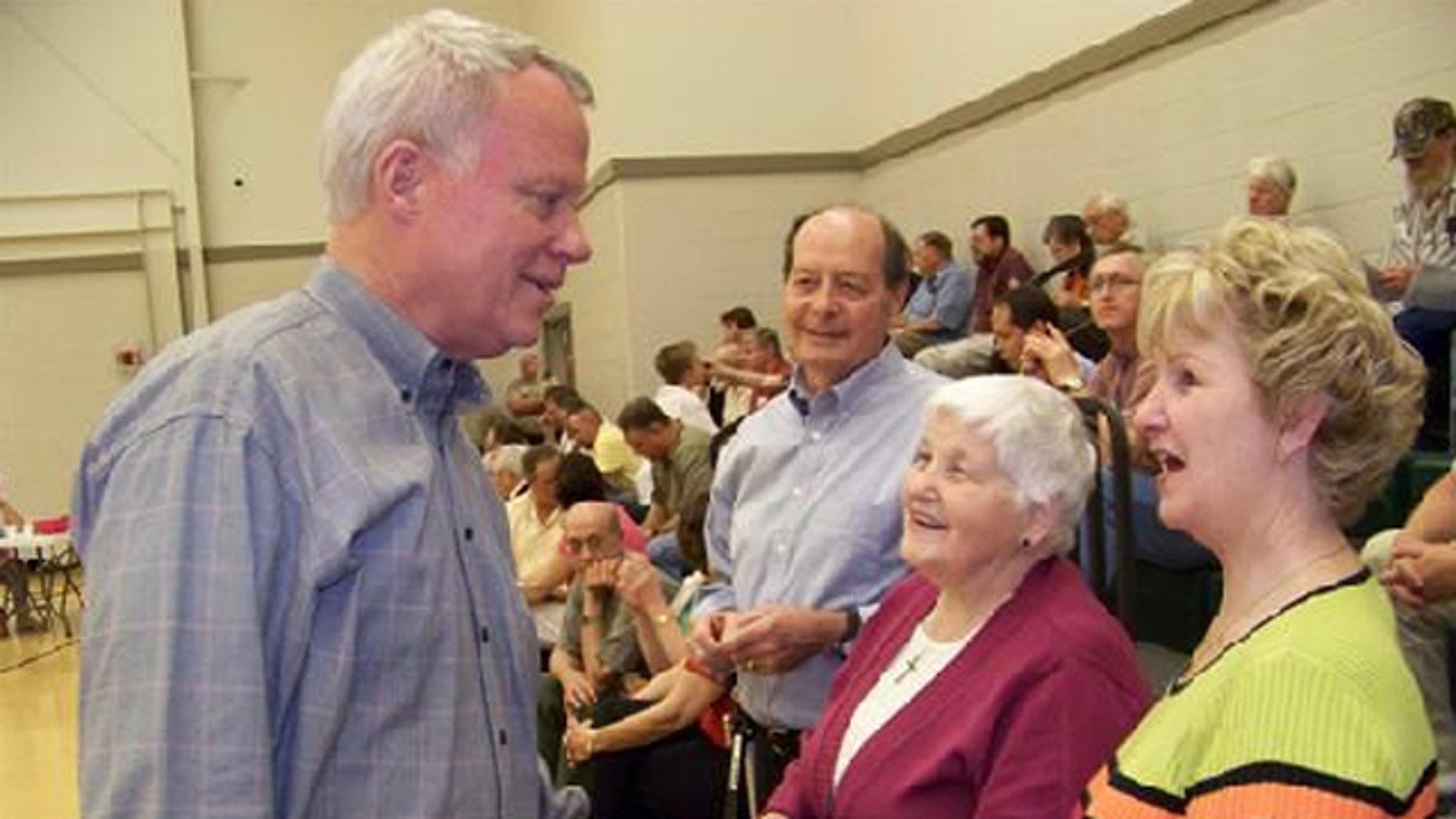 Rep. Paul Broun is shown here at a spring 2010 'Simple Truth Town Hall' in Franklin County.