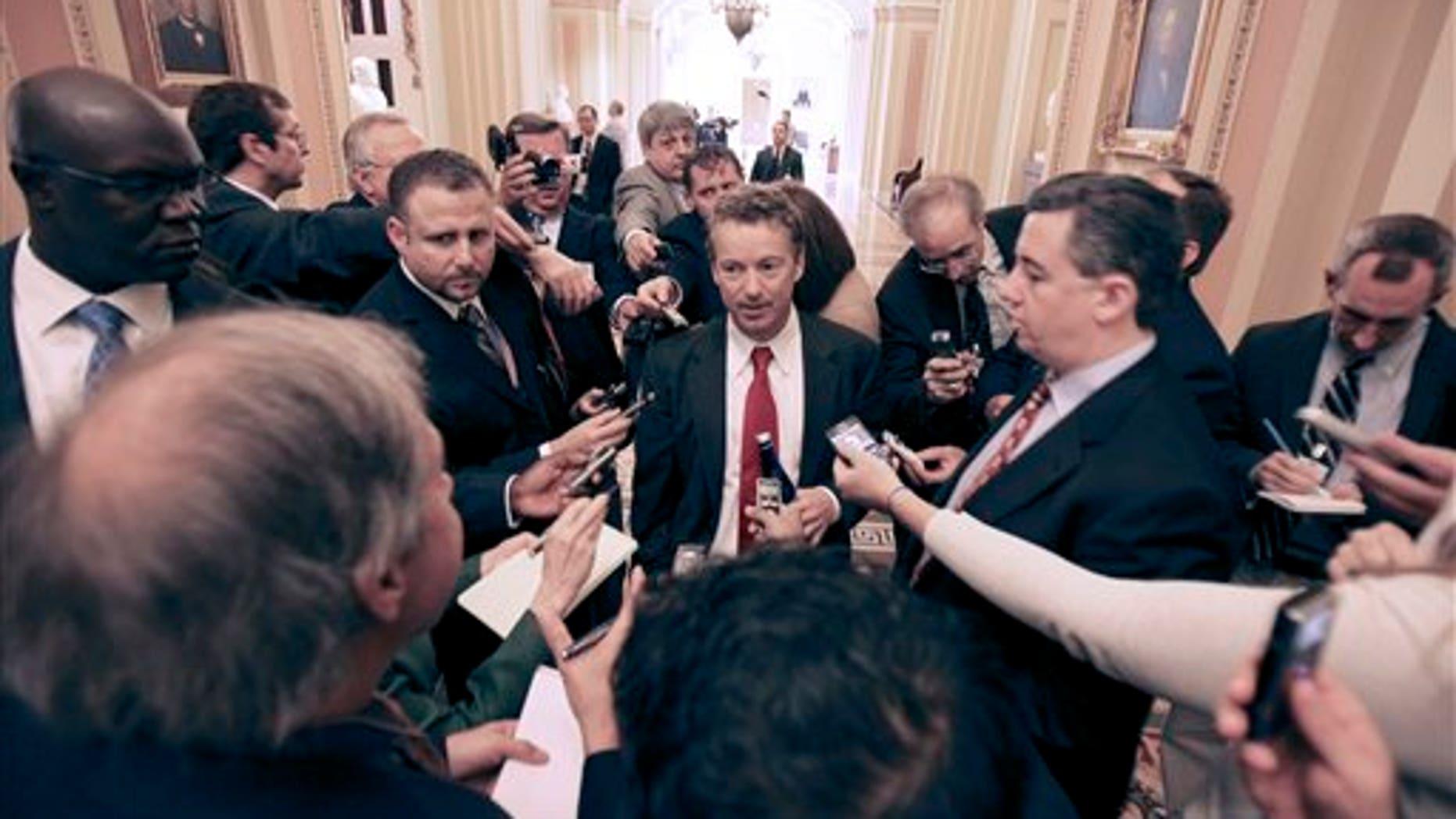 Rand Paul at the U.S. Capitol on November 15