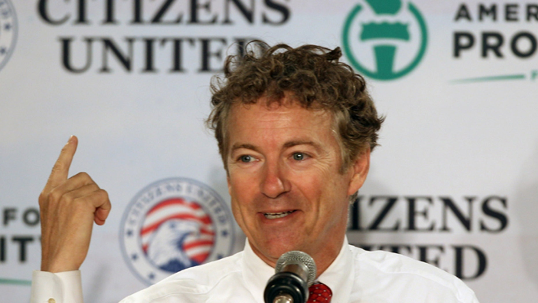 April 12, 2014: Sen. Rand Paul, R-Ky, speaks at a GOP Freedom Summit, in Manchester, N.H.