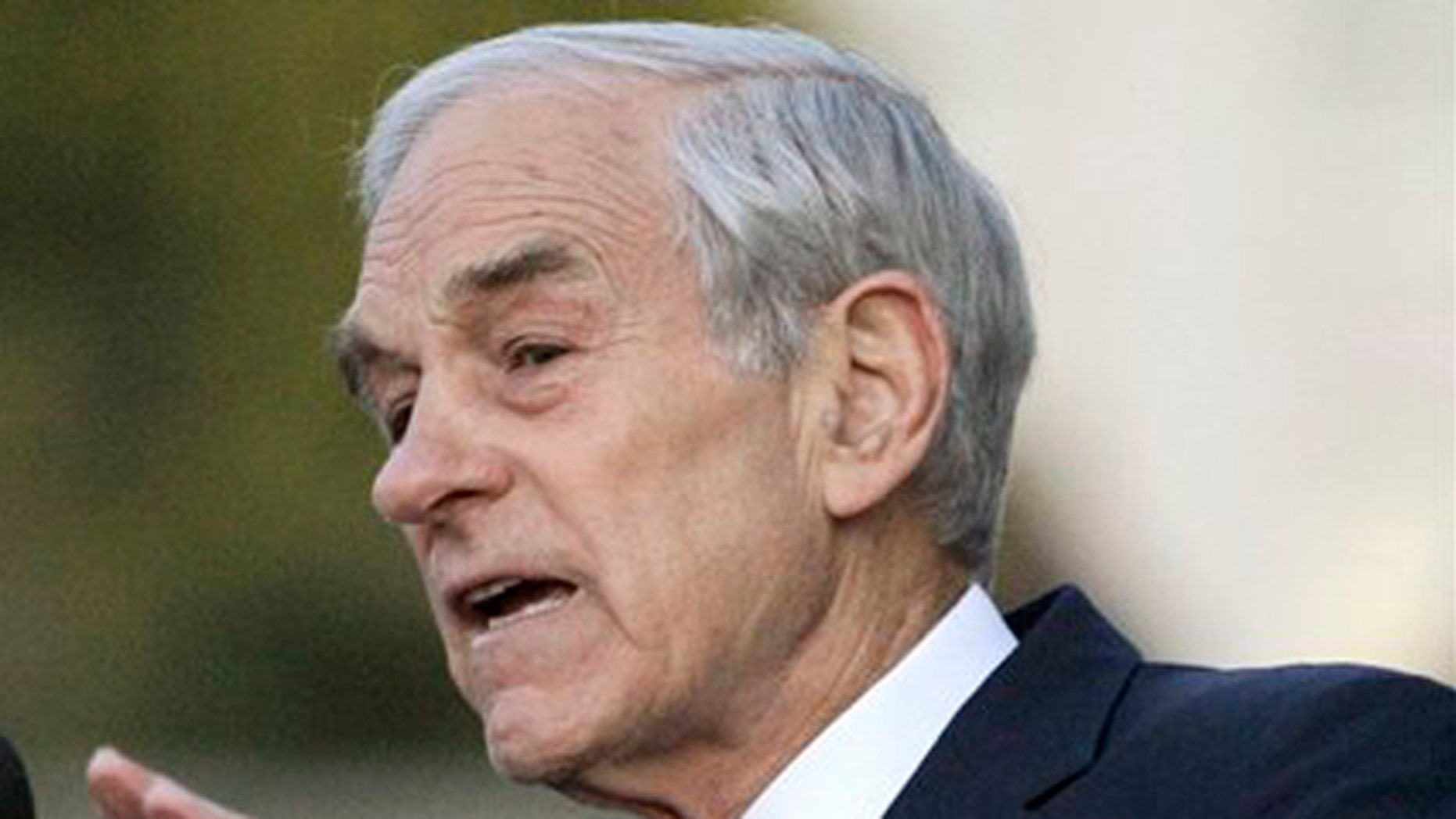 FILE: April 5, 2012: Republican presidential candidate Rep. Ron Paul, R-Texas speaks at the University of California at Berkeley, Calif.