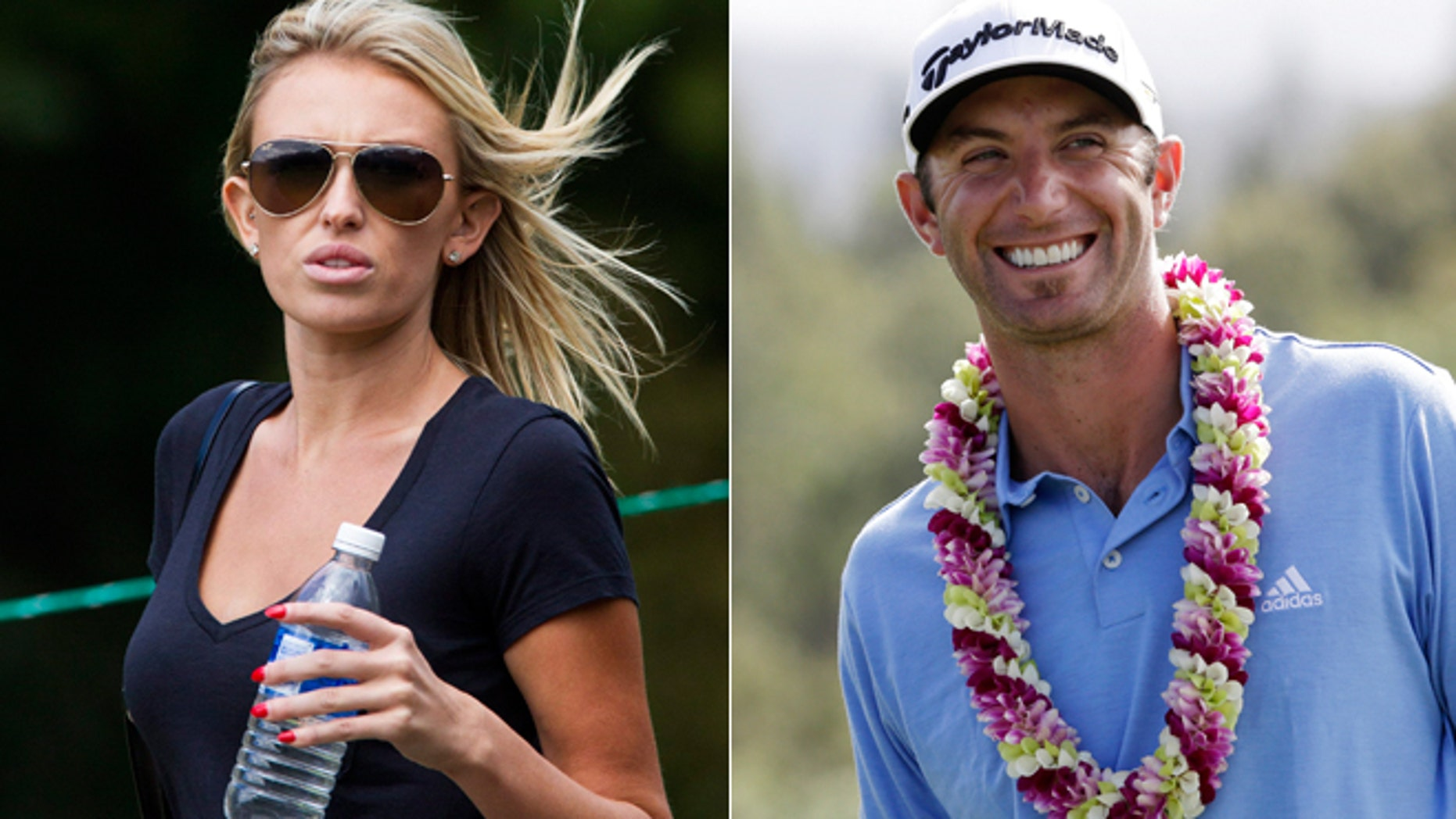 Paulina Gretzky, left, and Dustin Johnson have taken to Twitter to say they're getting married.