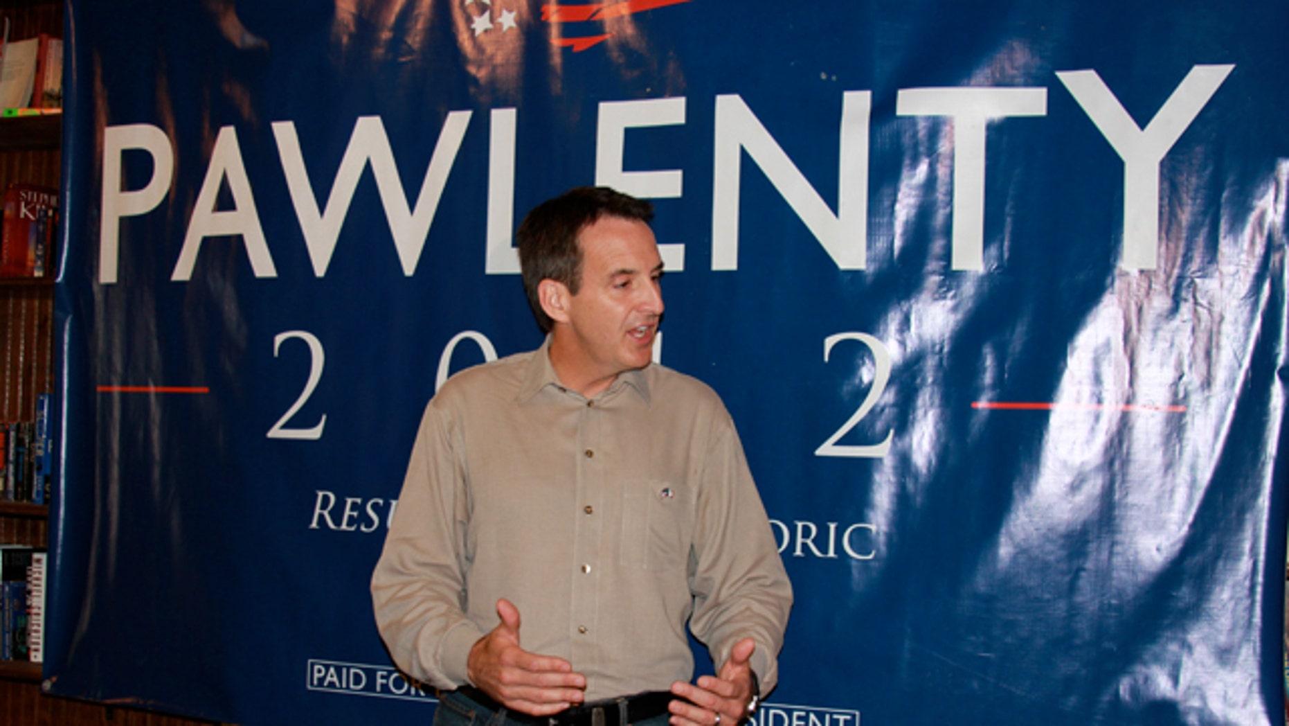 Aug. 10: Tim Pawlenty in Adel, Iowa.