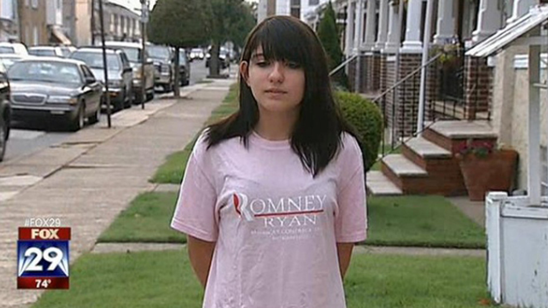 Samantha Pawlucy's lawsuit claims her school district let other students harass her over her Romney T-shirt.