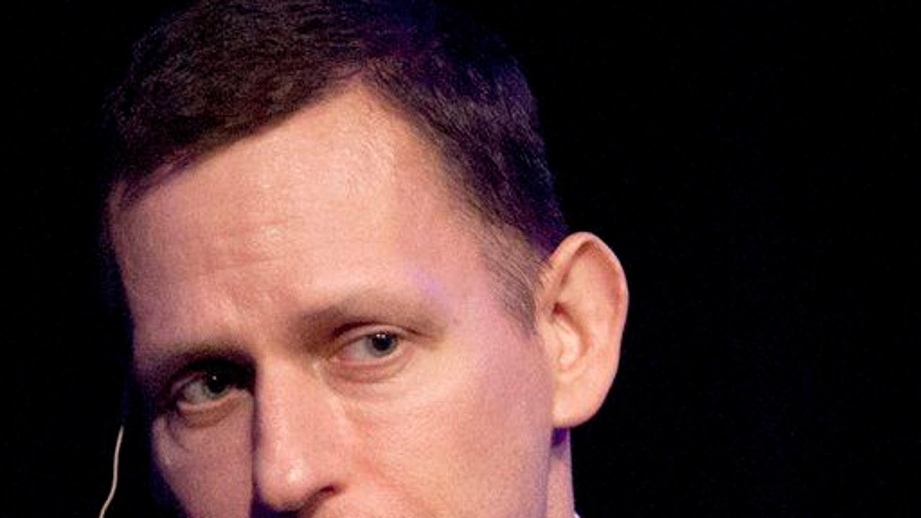 In this March 8, 2012, file photo, Peter Thiel speaks in San Francisco.