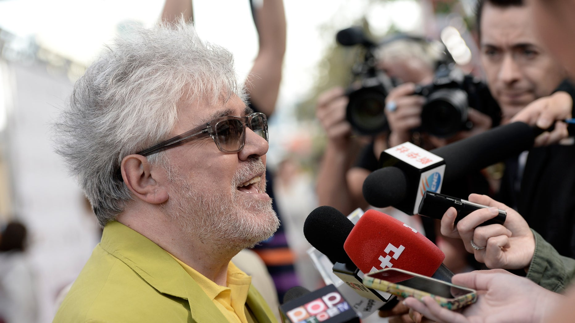 """Filmmaker Pedro Almódovar at the premiere """"So Excited!"""" on June 13, 2013 in Los Angeles, California."""