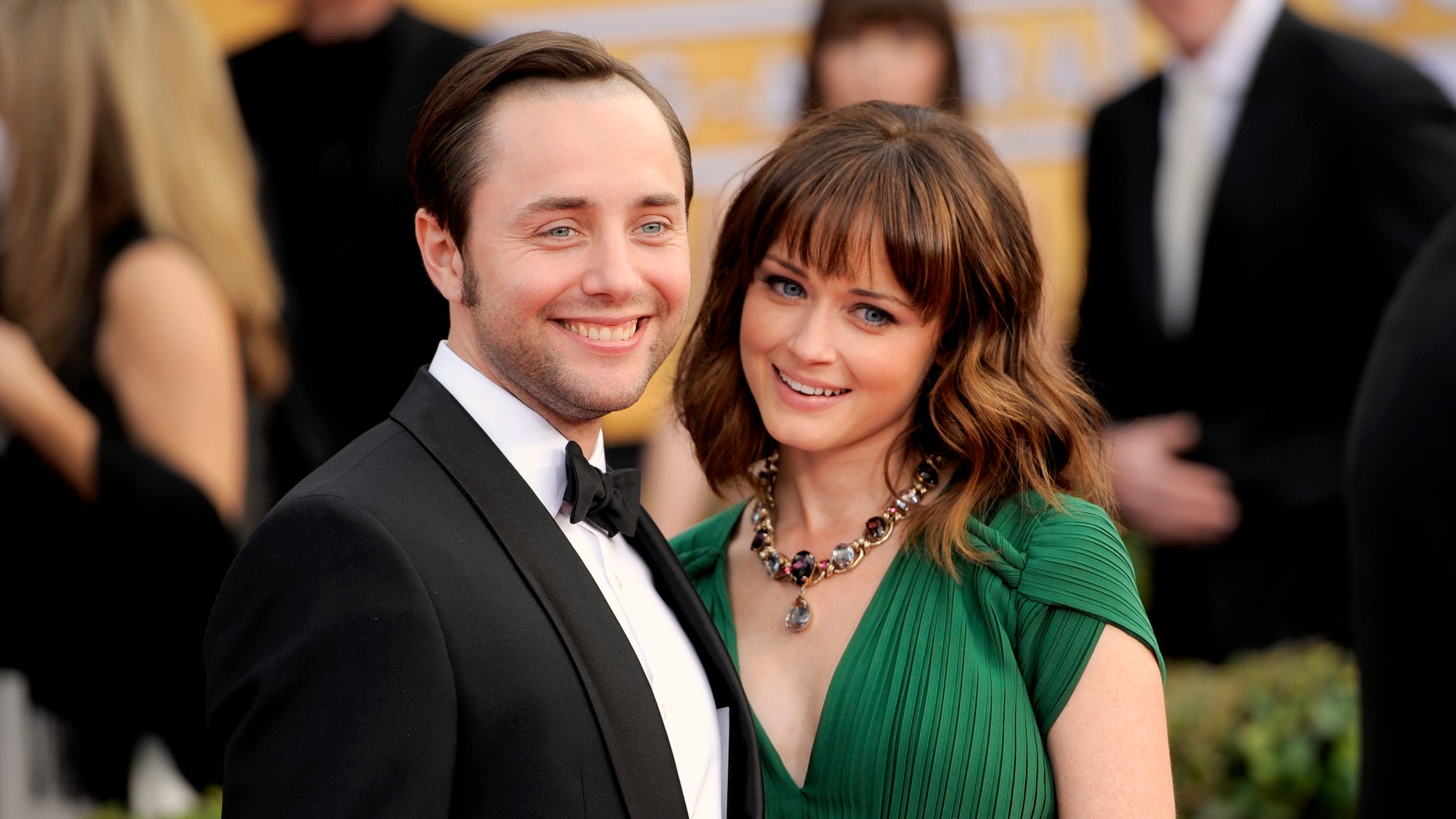 Jan. 27, 2013: This file photo shows actors Vincent Kartheiser, left, and Alexis Bledel at the 19th Annual Screen Actors Guild Awards at the Shrine Auditorium in Los Angeles.