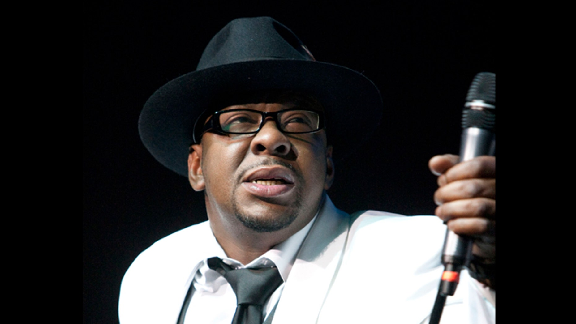 Feb. 18, 2012: File photo, singer Bobby Brown, former husband of the late Whitney Houston performs with New Edition at Mohegan Sun Casino in Uncasville, Conn. A judge sentenced Brown to 55 days in a Los Angelesjail Tuesday, Feb. 26, 2013 after the singer pleaded no contest to a drunken driving charge and driving on a suspended license.