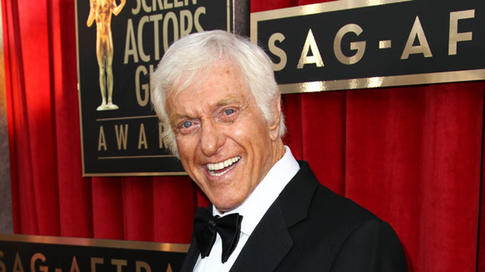 FILE - This Jan. 27, 2013 file photo shows actor Dick Van Dyke at the 19th Annual Screen Actors Guild Awards at the Shrine Auditorium in Los Angeles. (Photo by Matt Sayles/Invision/AP, file)