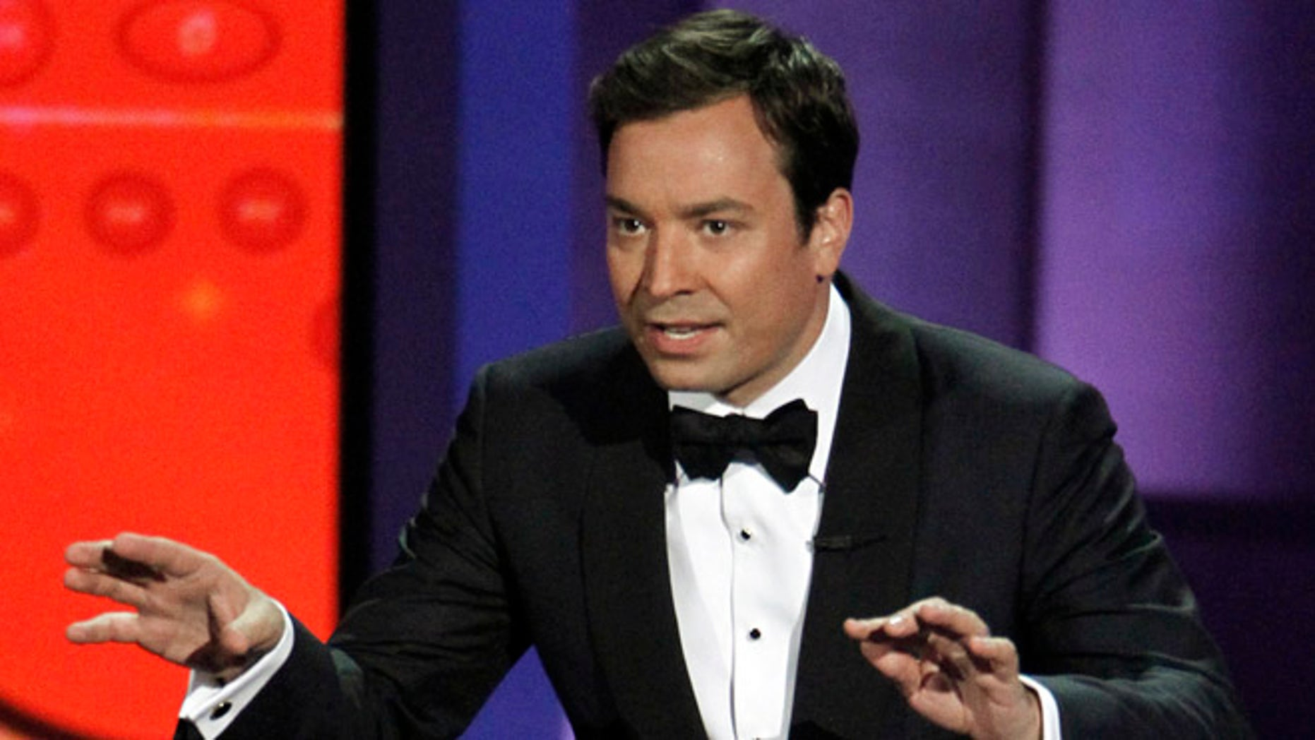 Aug. 29, 2010: In this file photo, host Jimmy Fallon presents during the 62nd Primetime Emmy Awards in Los Angeles.
