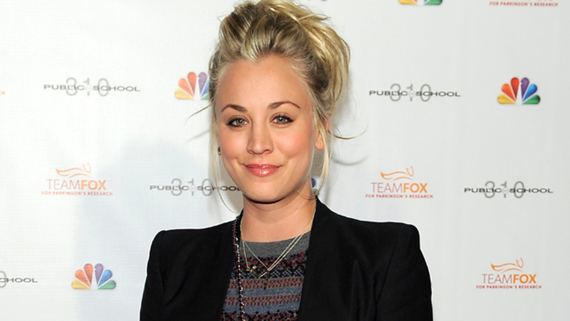 Dec. 5, 2012: This file photo shows actress Kaley Cuoco at the Raising the Bar to End Parkinsons fundraising event at Public School 310 in Culver City, Calif.