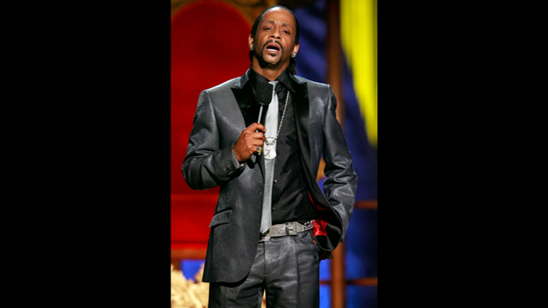 """July 22, 2007: File photo, Katt Williams performs onstage during the """"Comedy Central Roast of Flavor Flav,"""" in Burbank, Calif."""