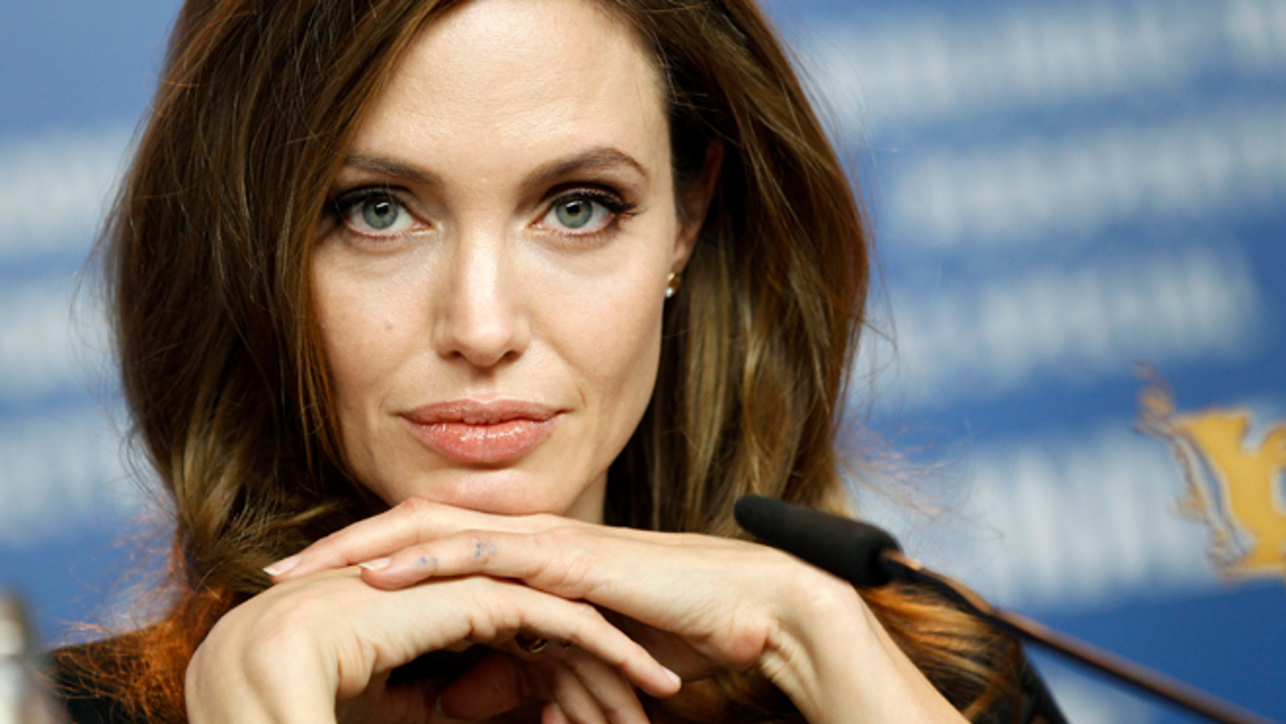 "Feb. 11, 2012: In this file photo, Angelina Jolie attends the news conference of the film ""In the Land of Blood and Honey"" at the 62 edition of the Berlinale International Film Festival in Berlin."