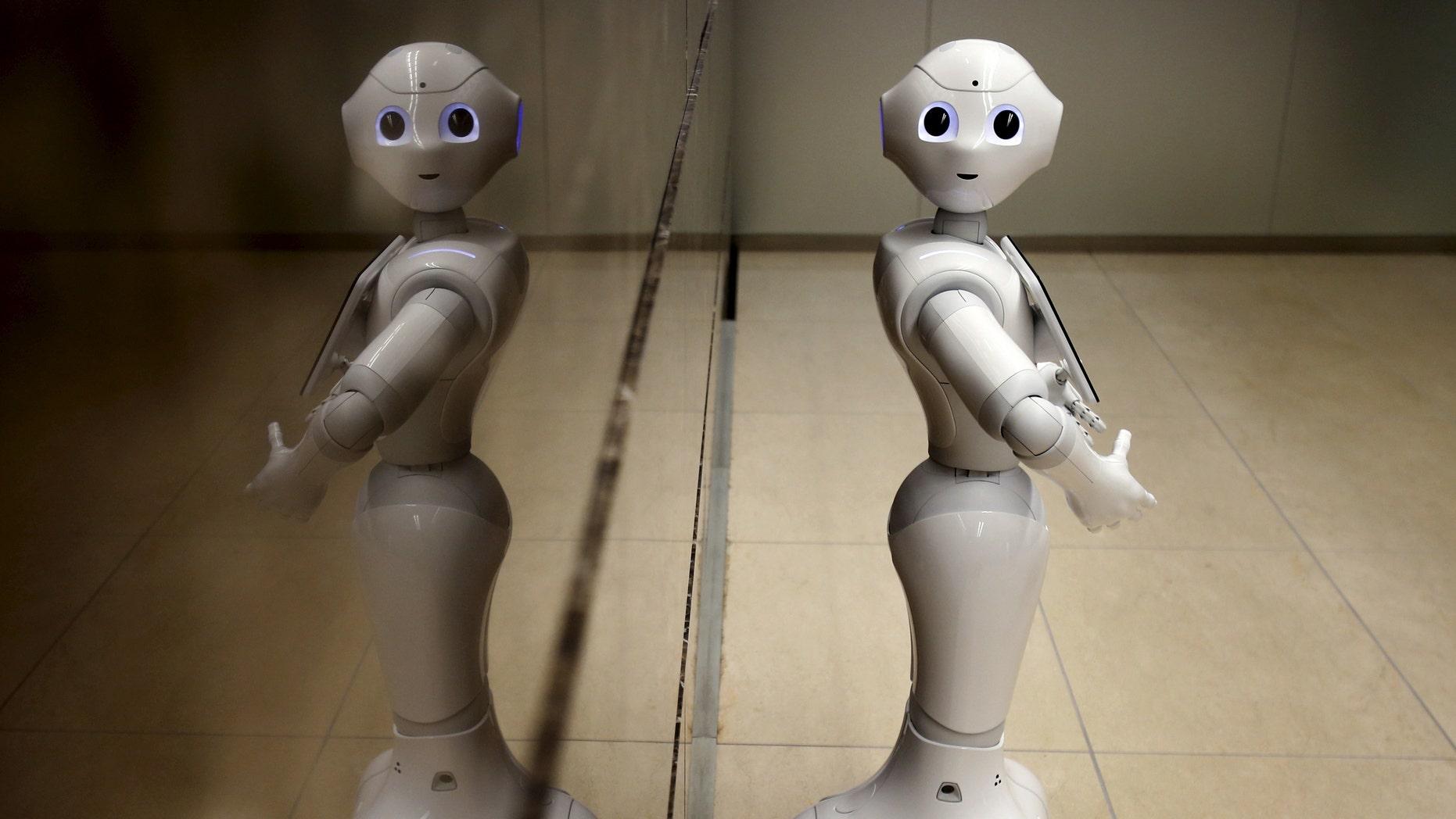 File photo - SoftBank's human-like robot named 'Pepper'.