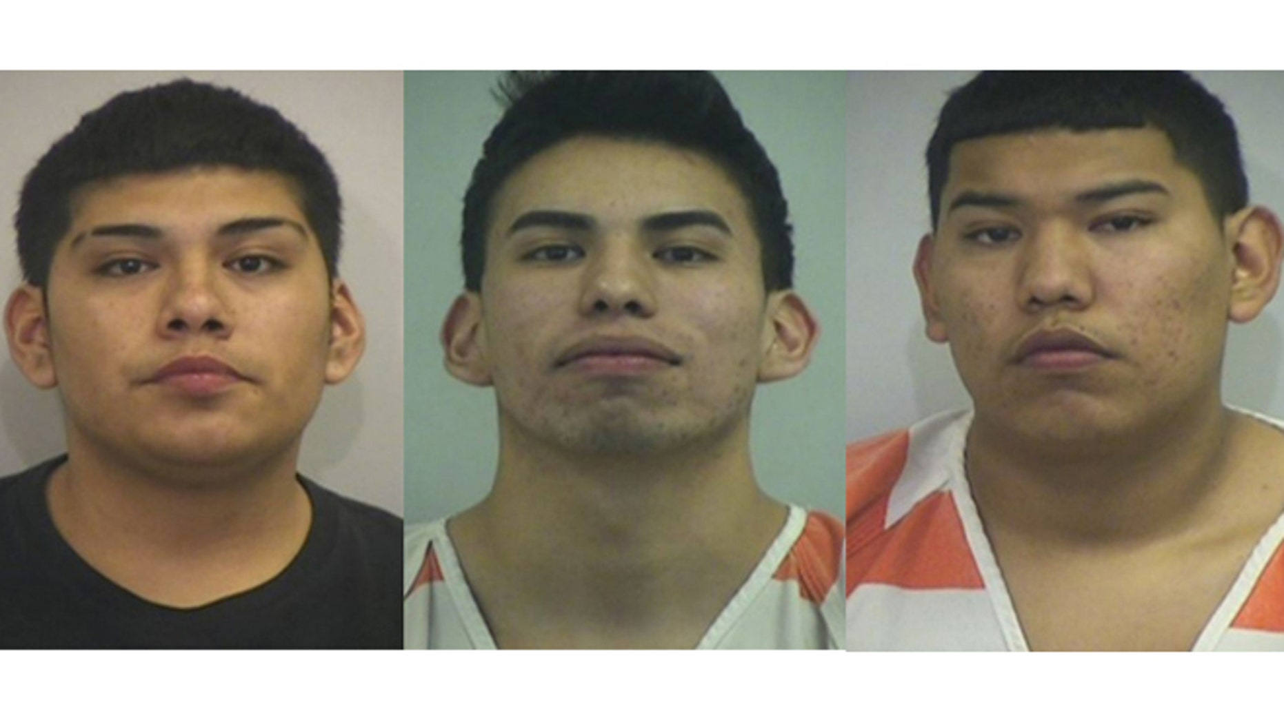 The Perkins brothers. From left: Thomas, Jesse and Edward Perkins. (Photos: Irving City Jail)