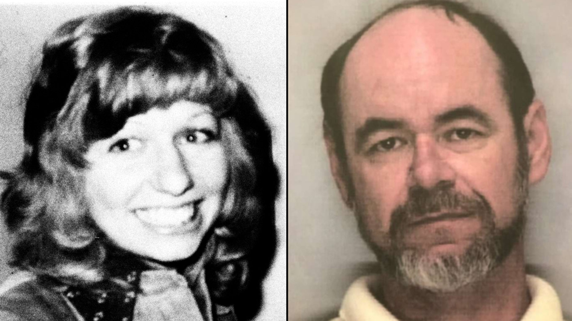 Northern California authorities said Thursday that Steve Crawford (right), a suspect in the 1974 ritualistic church murder of 19-year-old Arlis Perry (left) apparently killed himself after detectives with a search warrant knocked on his door.