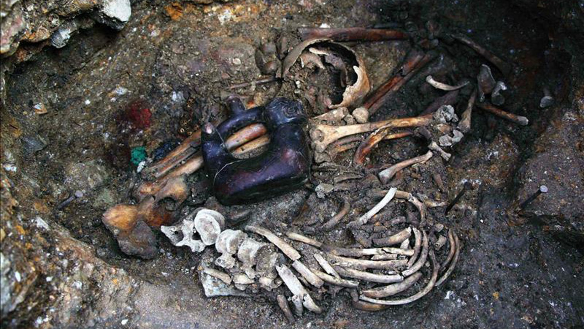 The site of the 2,700-year-old tomb is located in northern Peru's Cajamarca region.