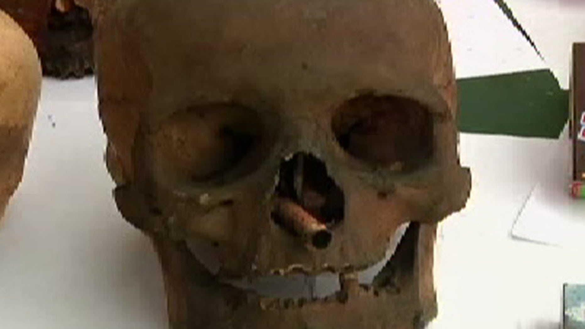 Police officers were astonished when they found a large number of human skulls inside the home of a man living in Downtown Lima, Peru.