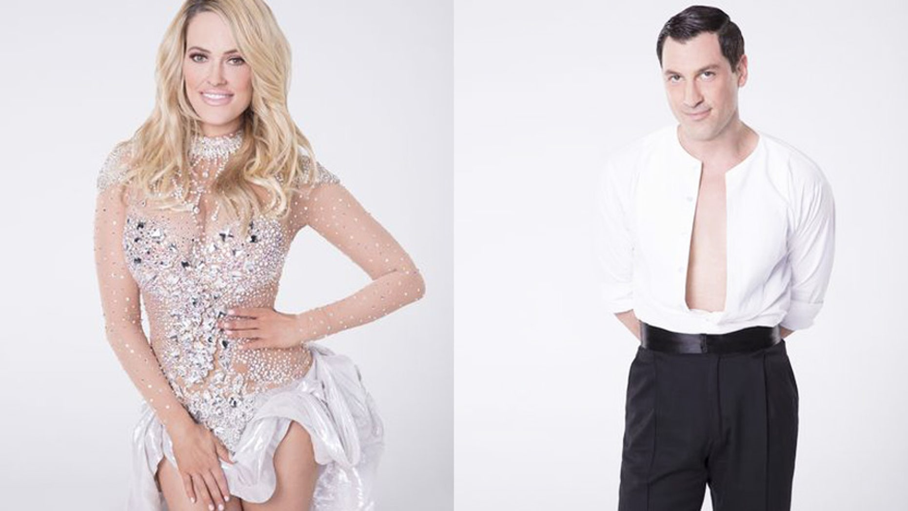 Peta Murgatroyd (left) and Maksim Chmerkovskiy (right) are safe after someone allegedly tried to break into their home.