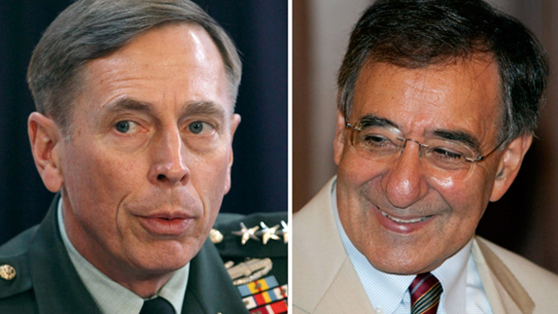 U.S. Army General David Petraeus and CIA director Leon Panetta