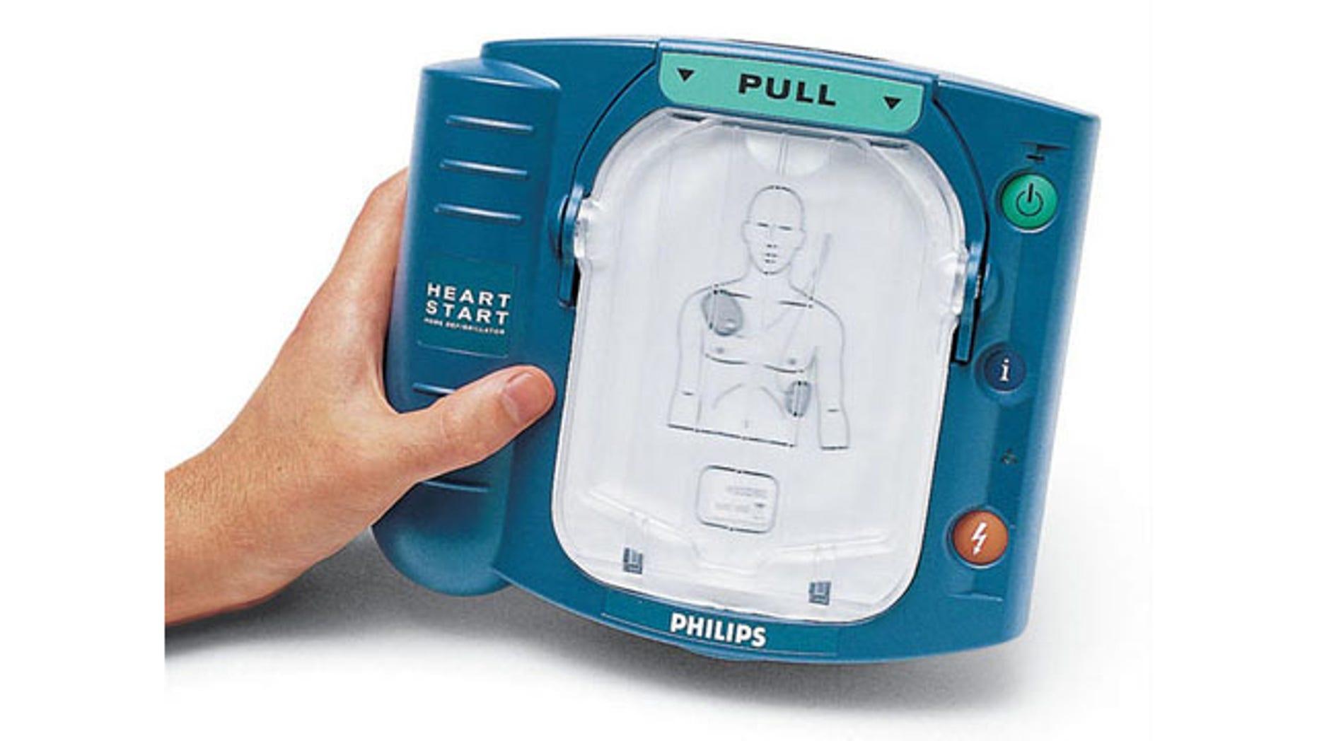 December 3, 2013: A Philips HeartStart defibrillator (AP)
