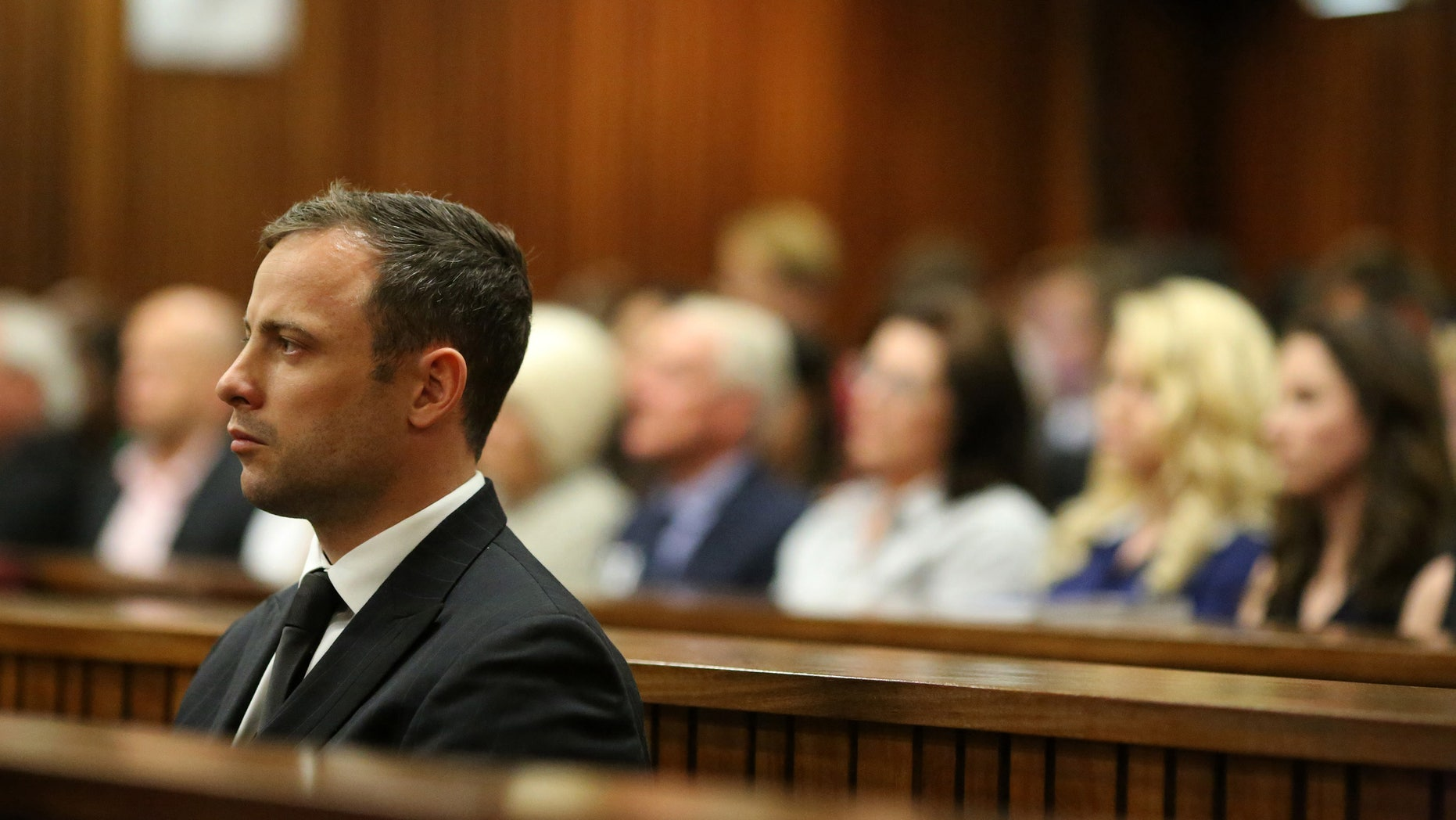 Sept. 12, 2014 - Oscar Pistorius in court in Pretoria, South Africa. Pistorius, who will be sentenced next month after being found guilty in the negligent killing of his girlfriend, could compete at any time. The South African Olympic committee has no regulations preventing someone with a criminal record from representing the country.