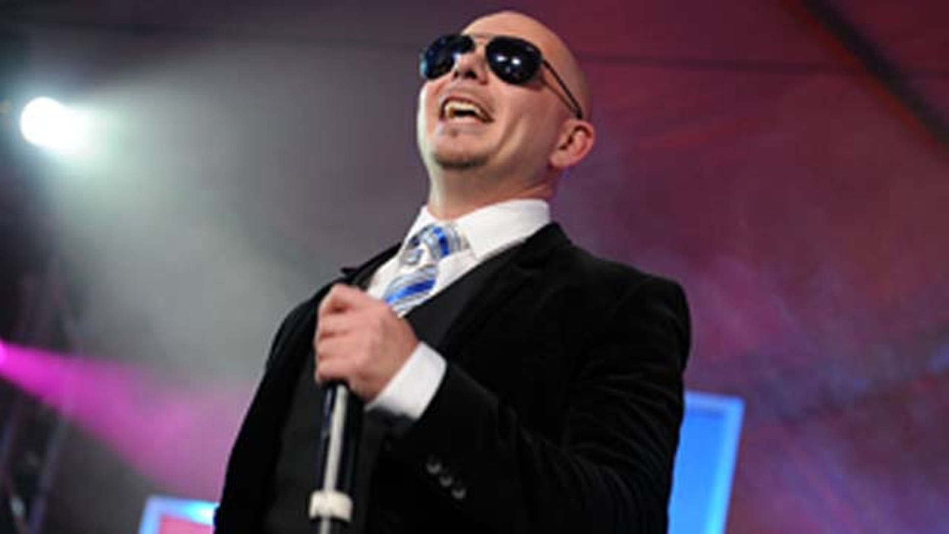 Feb. 05, 2011: Rapper Pitbull performs during the Bud Light Hotel event in Dallas, TX.
