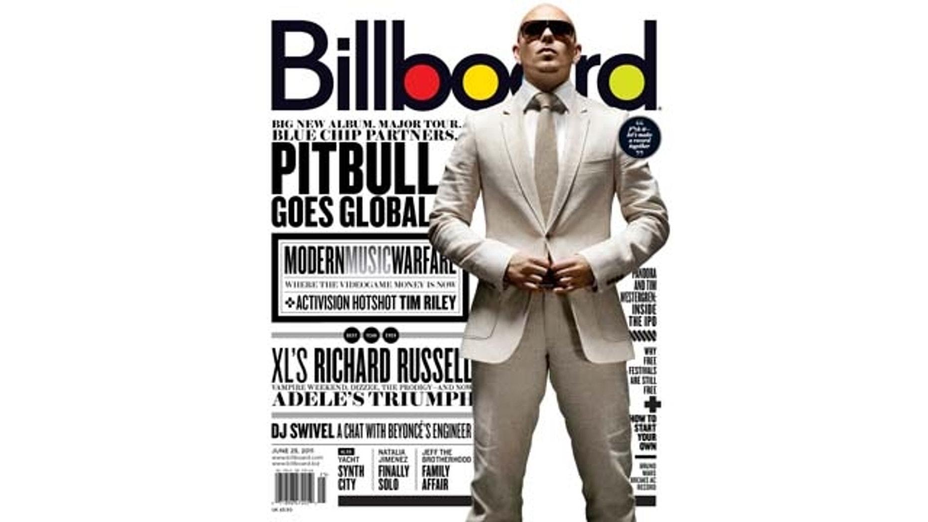June 23, 2011: International superstar Pitbull on the cover of Billboard magazine's latest issue.