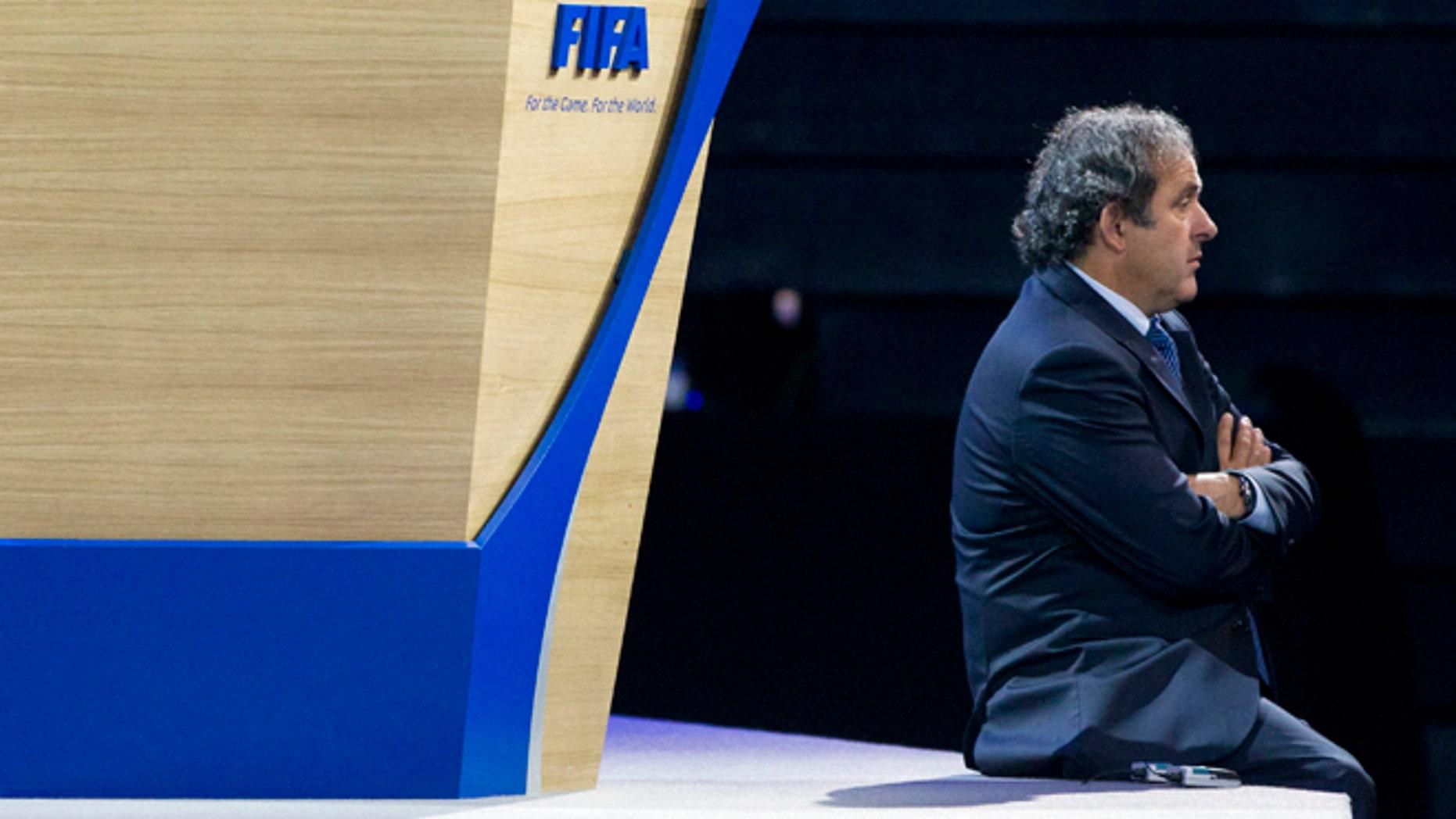 Michel Platini in a June 1, 2011 file photo.