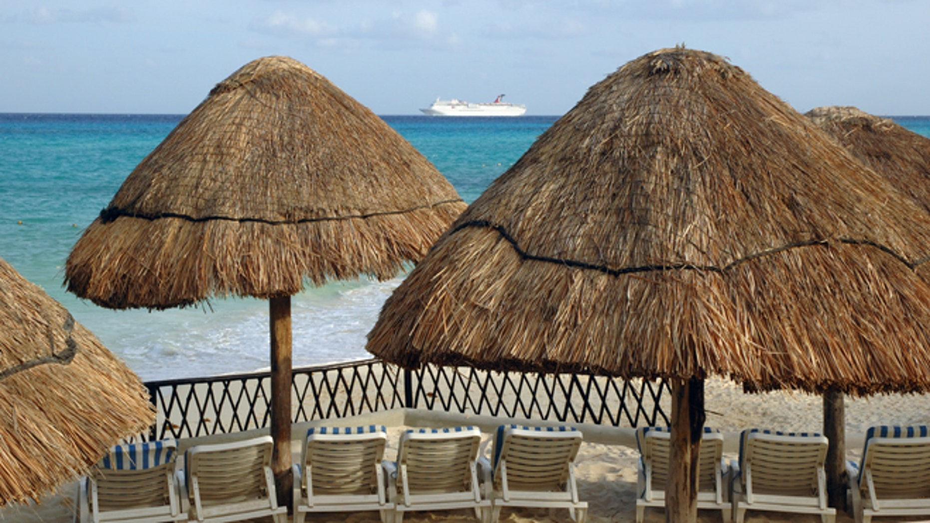 Lounge Chairs, Playa del Carmen, Mexico. (Photo by: Universal Images Group via Getty Images)