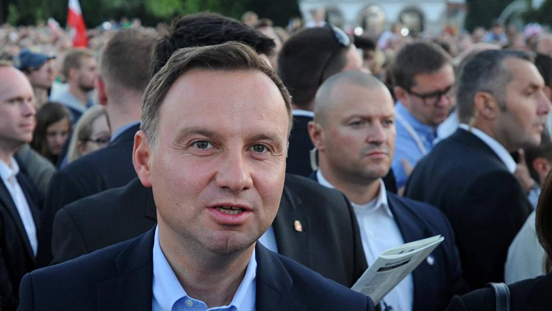 FILE - This Aug. 1, 2015, file photo shows Polish President-elect, Andrzej Duda at the Pilsudski square on the 71st anniversary of the insurgency, in Warsaw, Poland. It's been a dream of some Polish leaders for nearly a century: an alliance of Eastern European countries running from the Baltic Sea down to the Black Sea that would keep Russia at bay. Poland's conservative new president, Duda, who took office two weeks ago, has already signaled that building such an alliance under Warsaw's leadership will be a priority of his presidency. (AP Photo/Alik Keplicz, File)