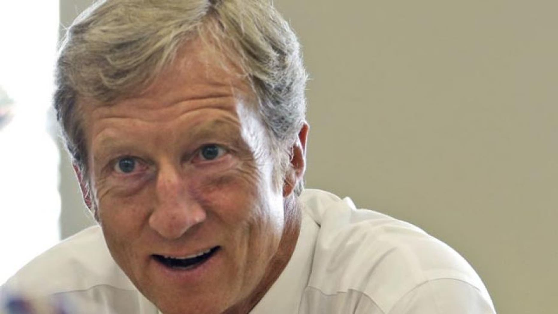 Sept. 25, 2013: In this file photo, businessman Tom Steyer talks during a meeting to announce the launch of a group called Virginians for Clean Government at Virginia Commonwealth University in Richmond, Va. (AP)