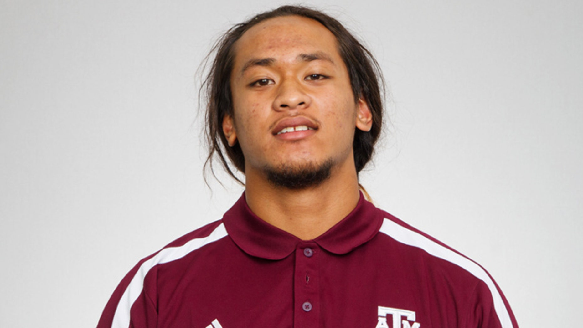 This Aug 22, 2012 photo provided by Texas A&M University shows Polo Manukainiu.