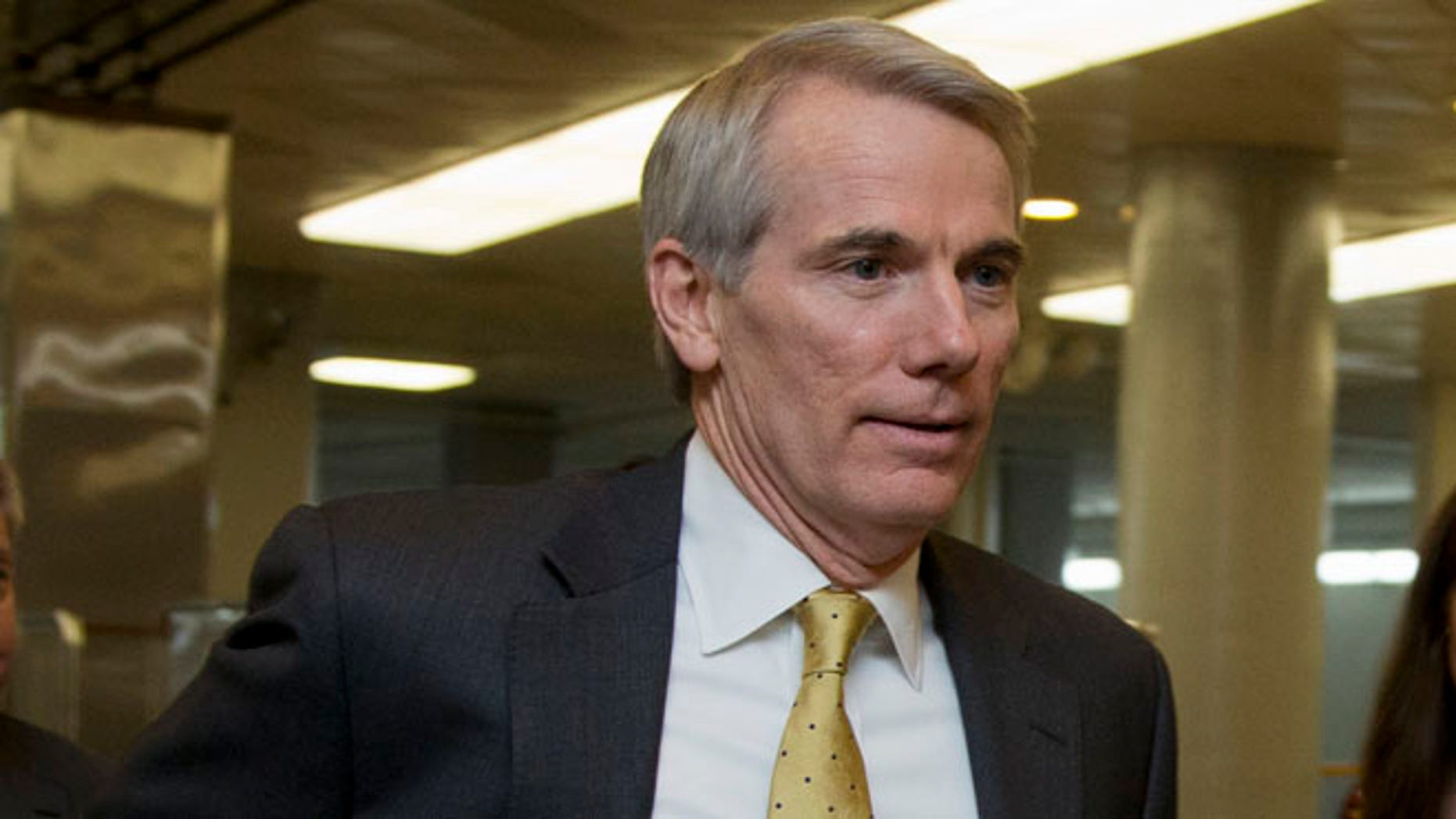 FILE: Dec. 12, 2014: Sen. Rob Portman, R-Ohio, on Capitol Hill in Washington, D.C.