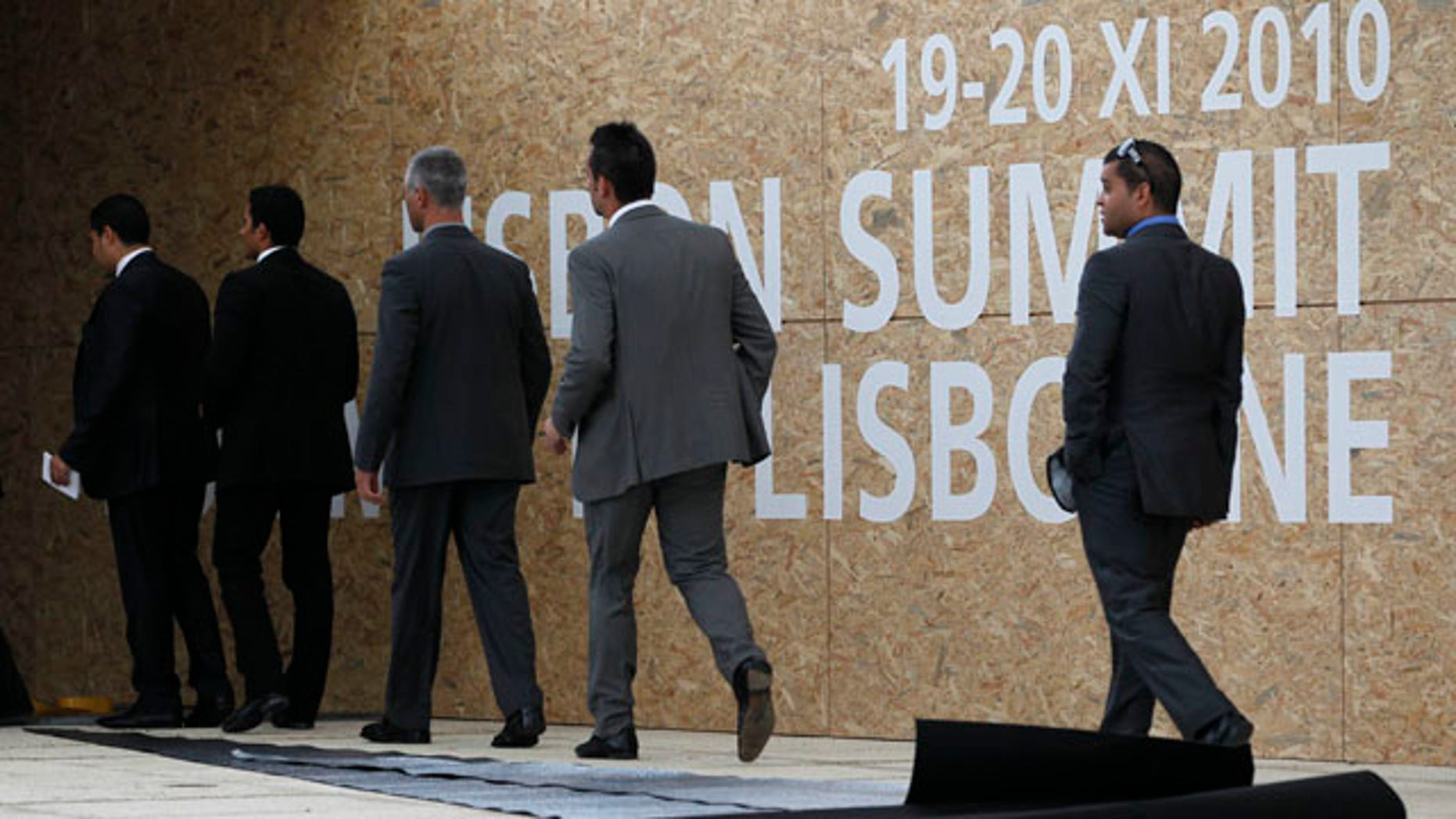 Nov. 18: Officials walk into NATO summit in Lisbon, Portugal where member countries will gather for a two day summit.
