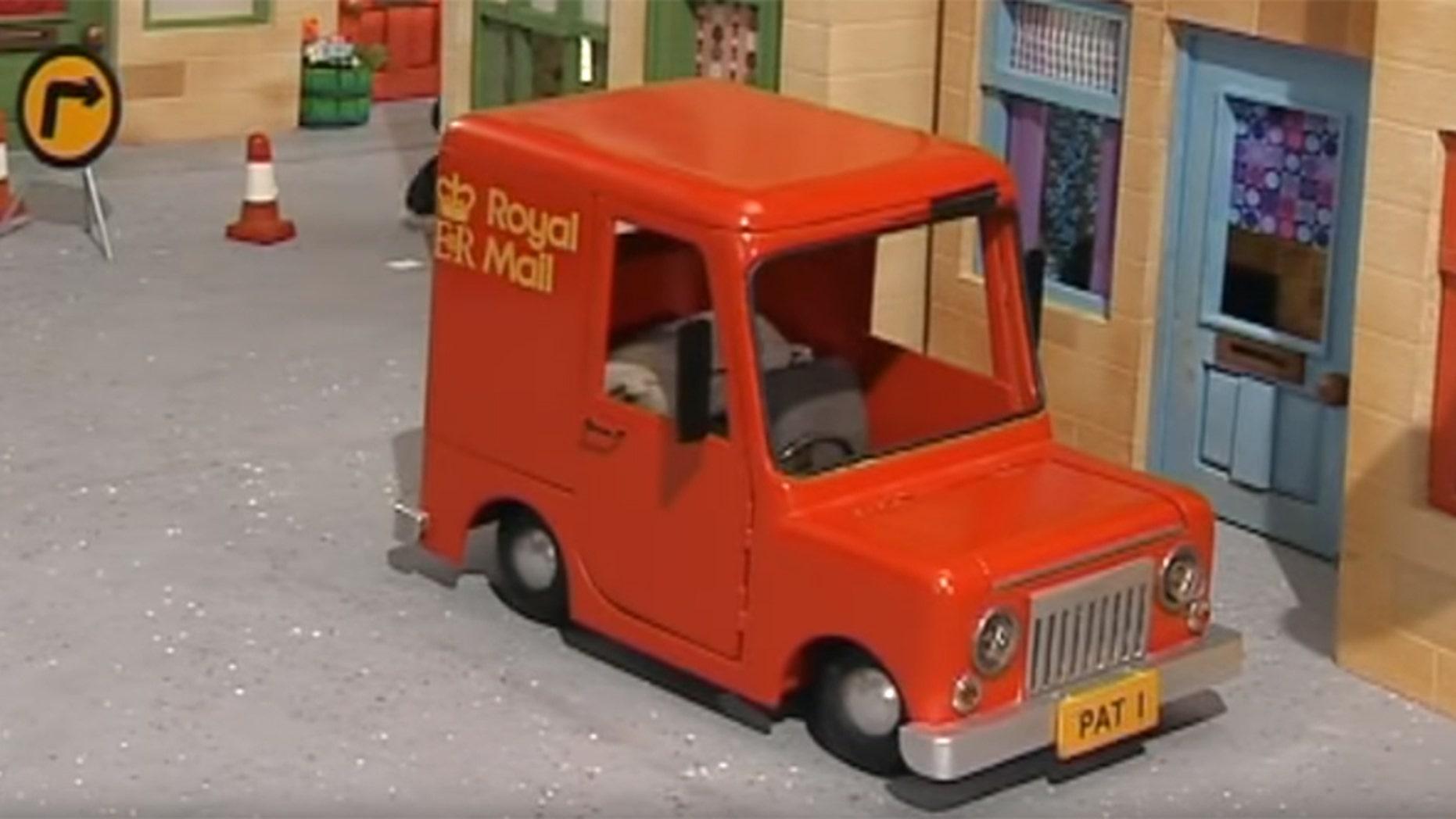 "A man in the U.K. drove a replica of British cartoon ""Postman Pat""'s car through a McDonald's drive-thru."