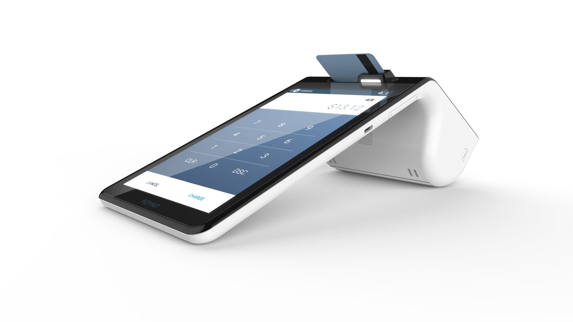 This product image provided by Poynt shows the new Poynt 'smart' payment terminal.