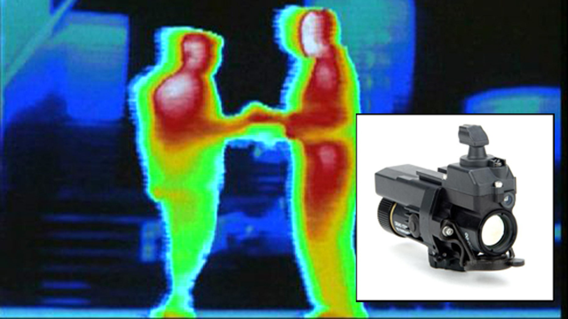 """A new thermal-vision device will augment night-vision goggles, letting soliders see in """"Predator"""" vision."""
