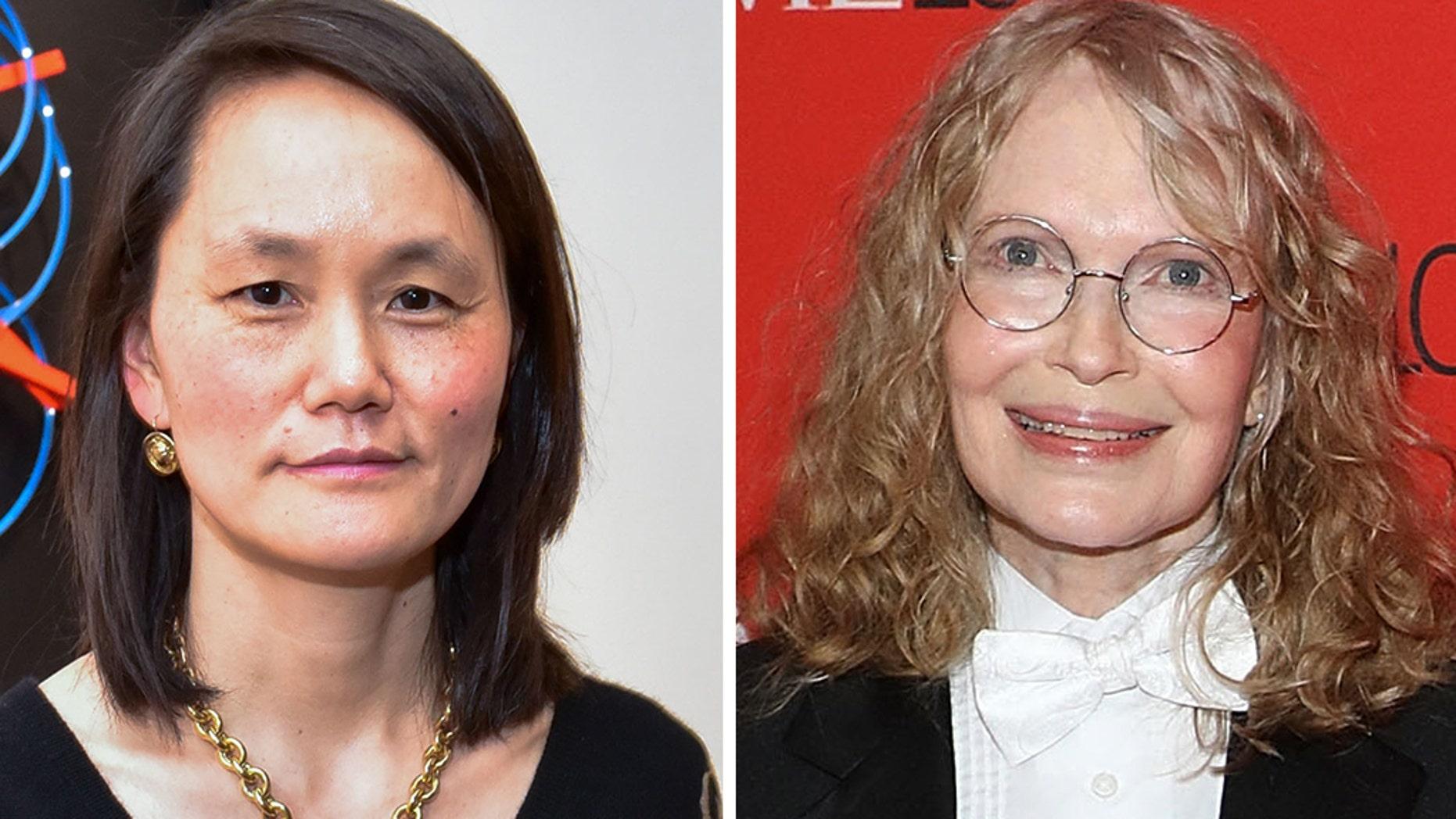 Soon-Yi Previn, left, broke her silence by slamming Mia Farrow, her adoptive mother.