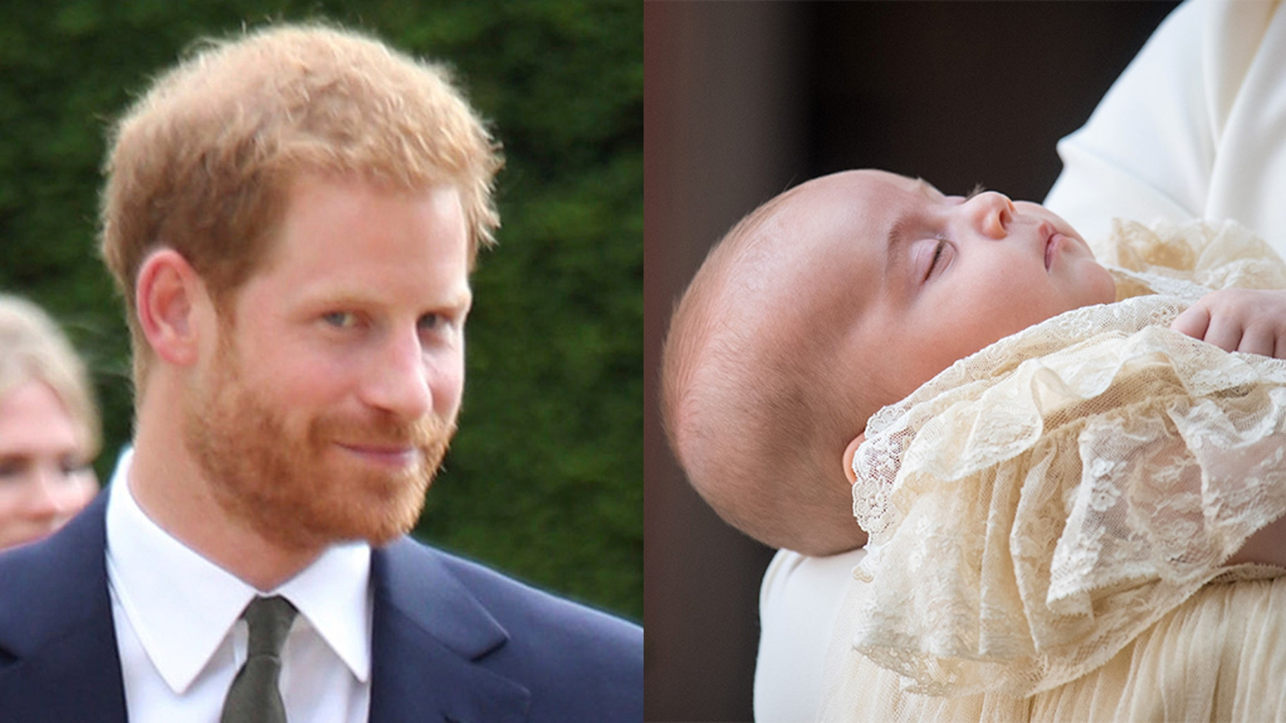 Prince Harry (left) reportedly paid thousands of pounds for a christening present for Prince Louis (right).
