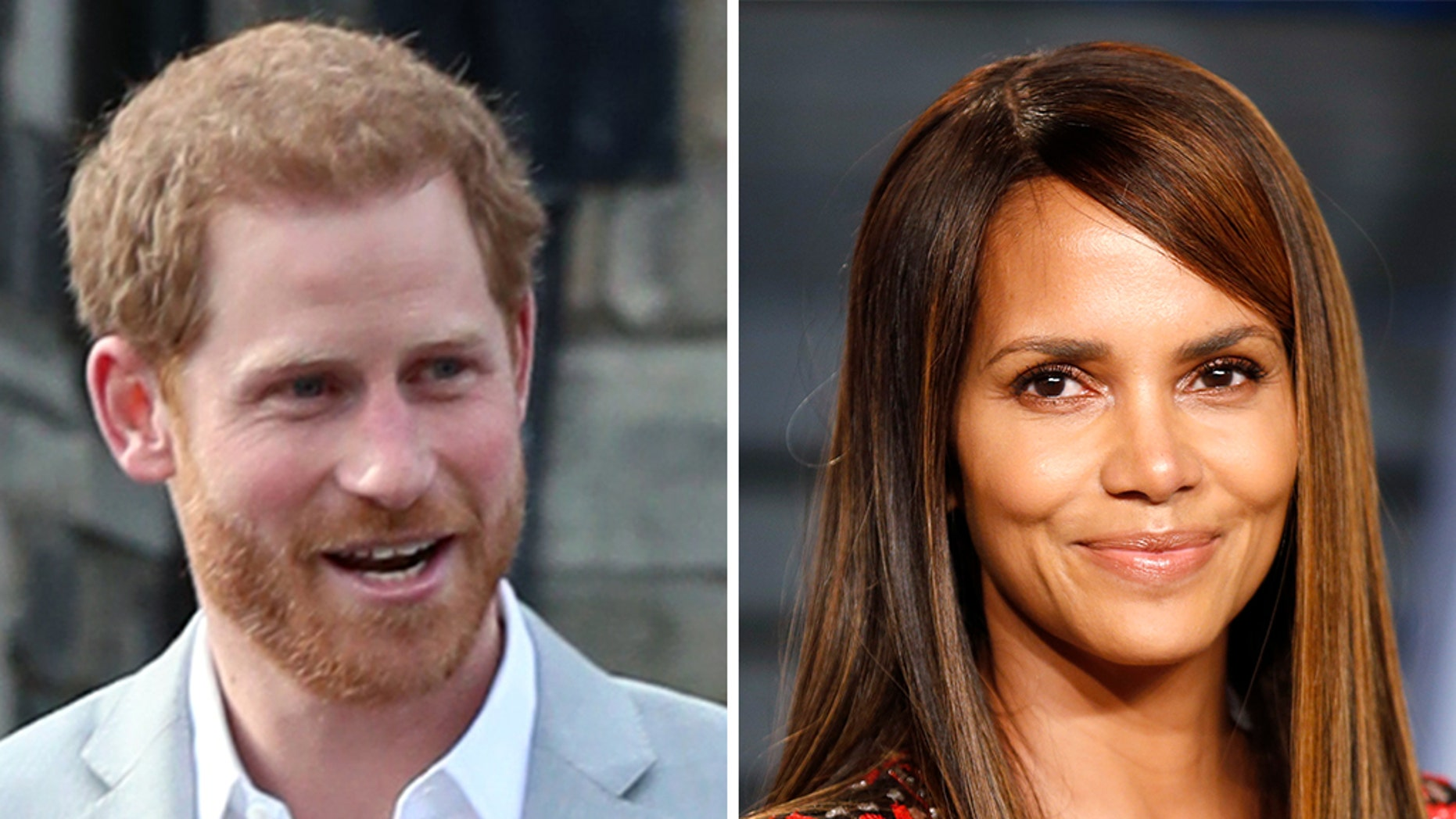 Halle Berry busted Prince Harry for once hanging a photo of her in his teenage dorm room.