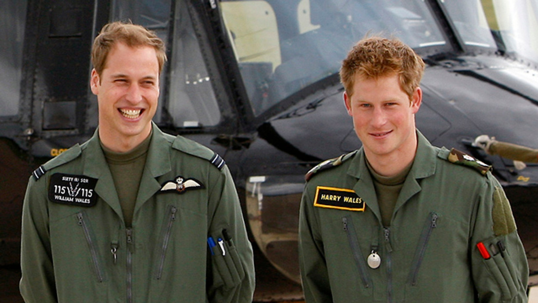 FILE 2009: Prince William, left, and Prince Harry during a photo call at RAF Shawbury, Shropshire, England.